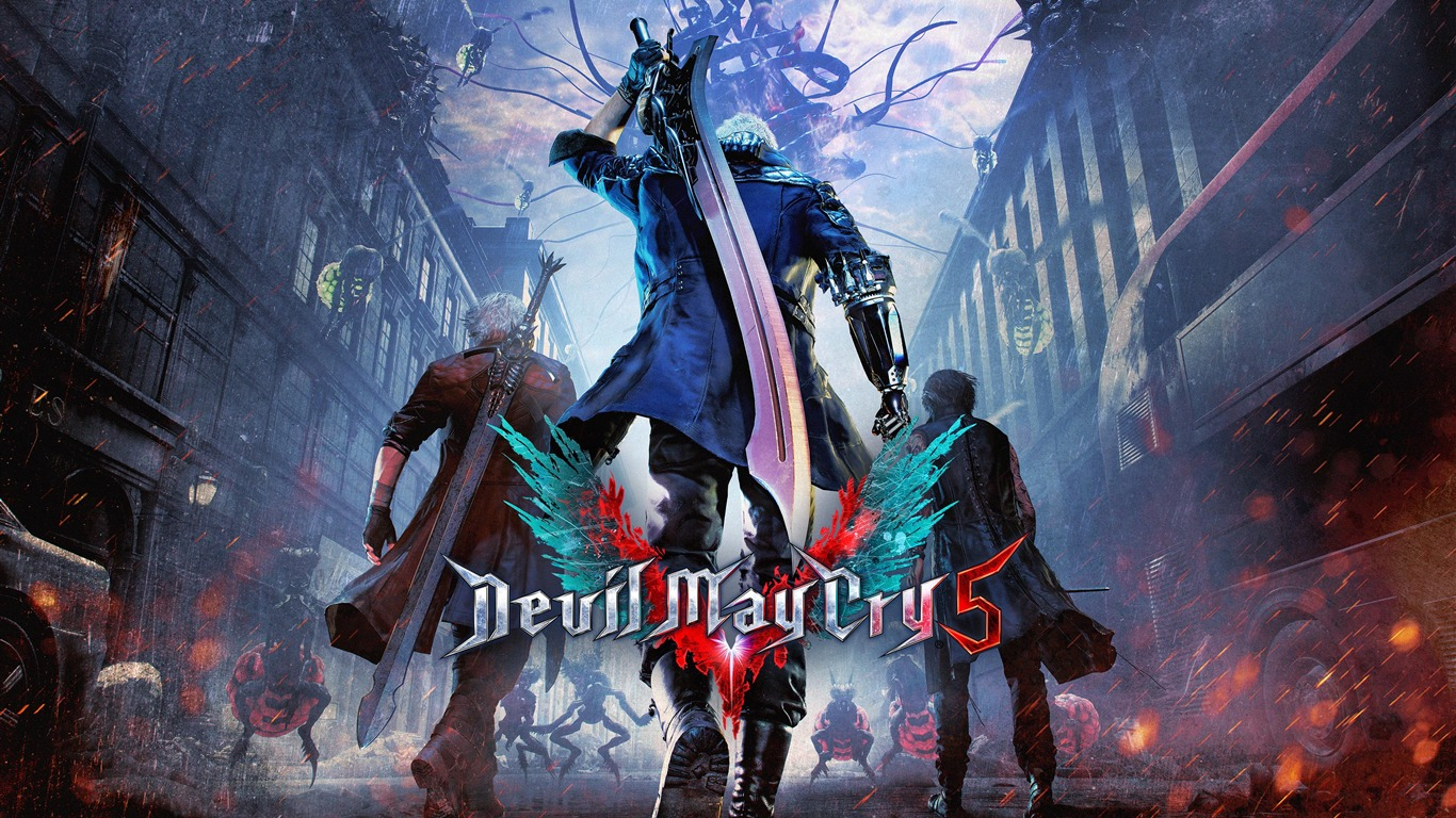2019, Devil May Cry 5, jogo, HD, Poster