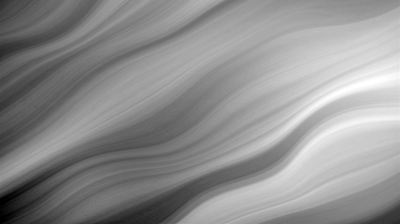 Preto Branco Curva Fluida Abstrato Design Visualizacao