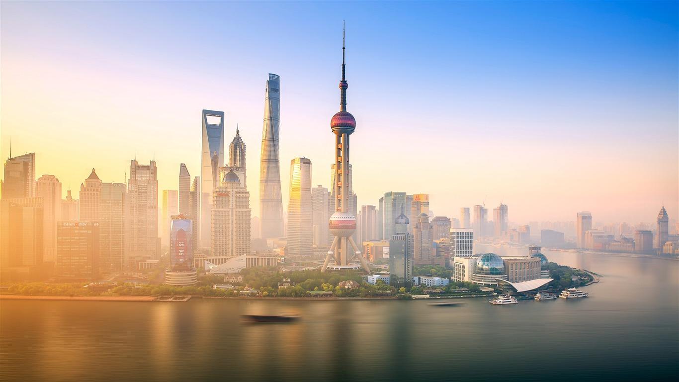 上海,黄浦江,东方明珠,早晨预览 10wallpaper Com