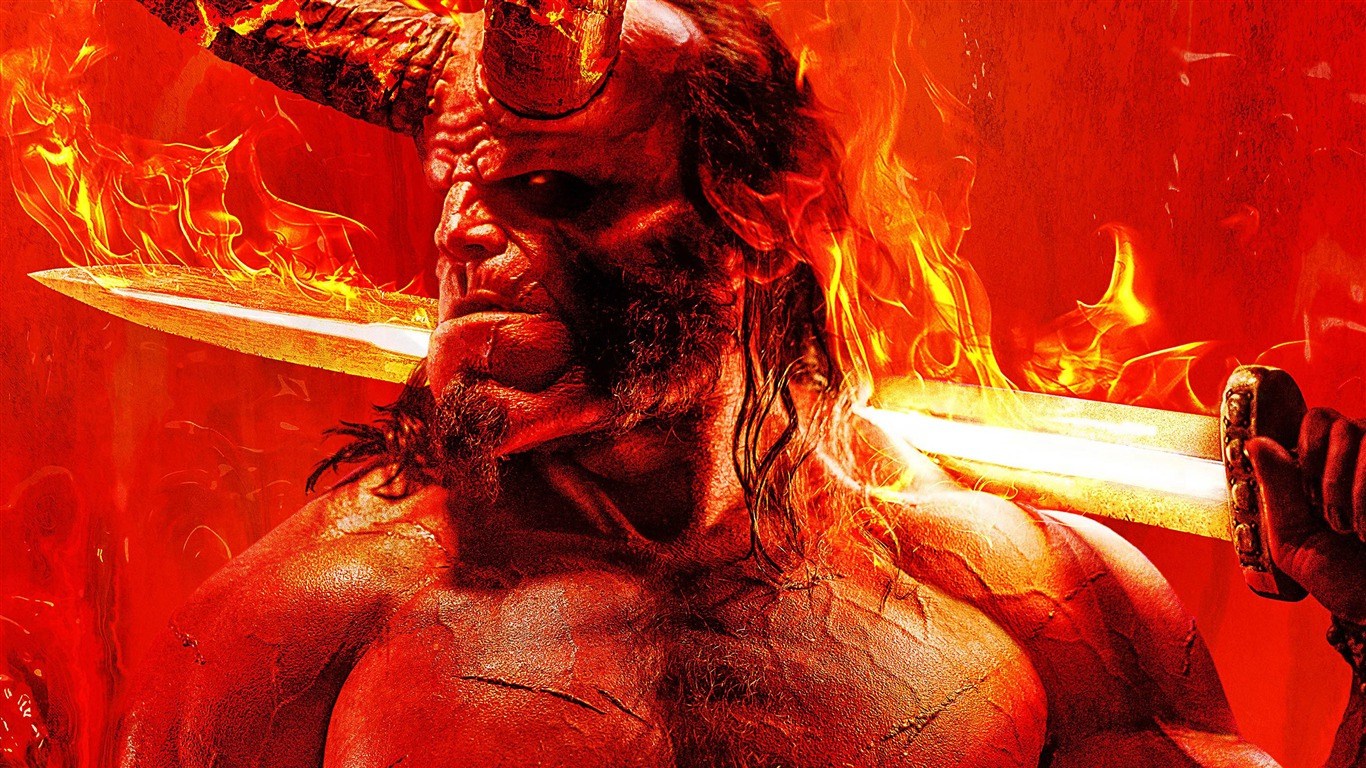 Movie Poster 2019: Hellboy 2019 David Harbour Film 4K Poster Preview