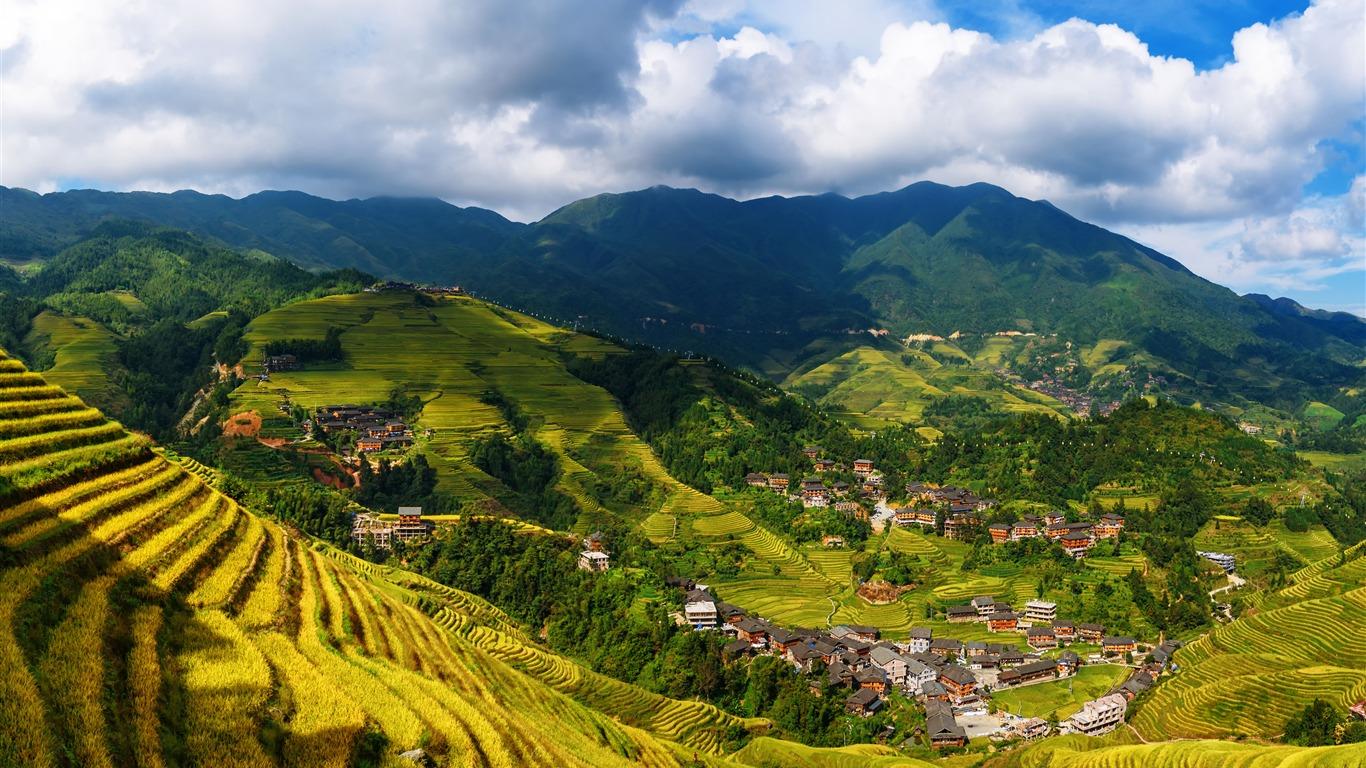 Yangshuo China Longji Terrazas Paisajes Naturales Avance