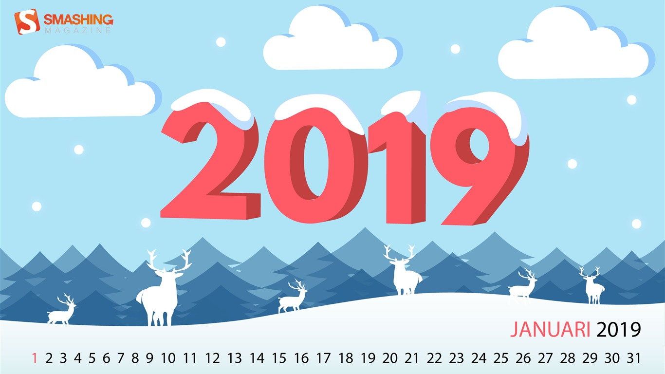A_Cold_But_Happy_2019_January_2019_Calendars2018.12.31