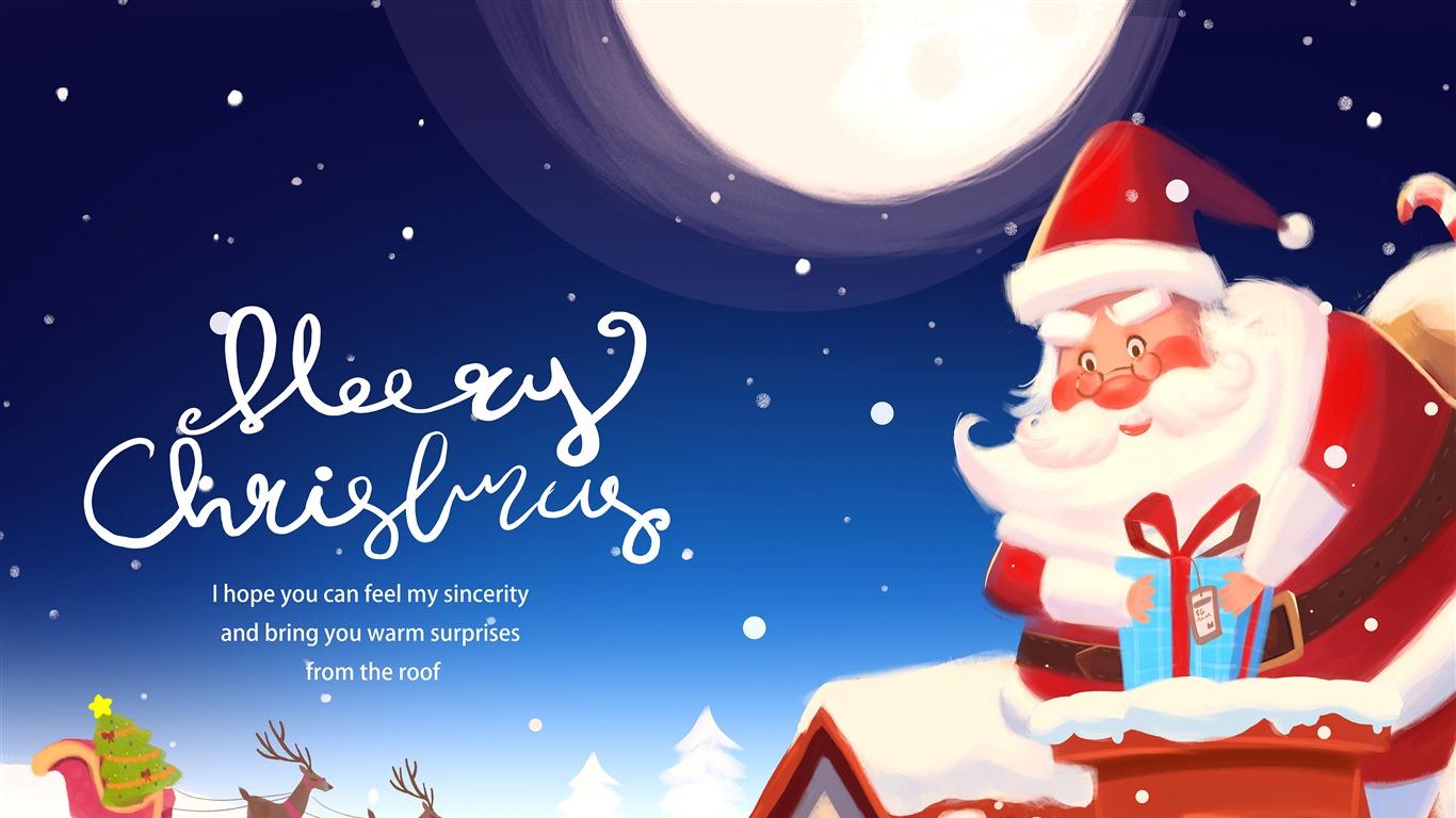 Joyeux Noel 2019 Dessin Animé Père Noël Aperçu