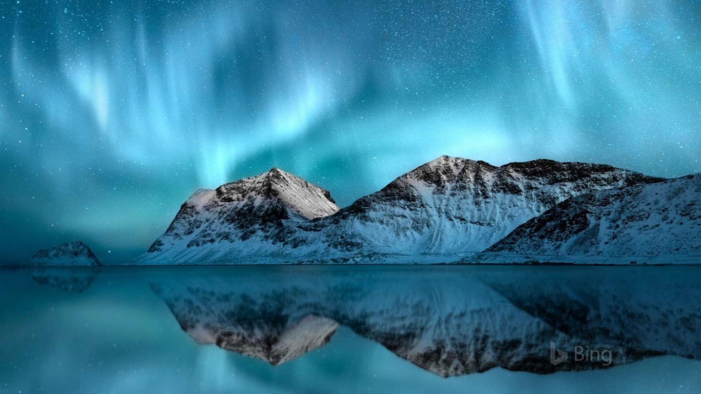 Noruega Aurora Boreal Lofoten 2018 Bing Papel Pintado