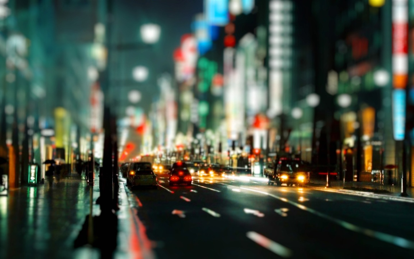 Photography City Street Night Wallpaper