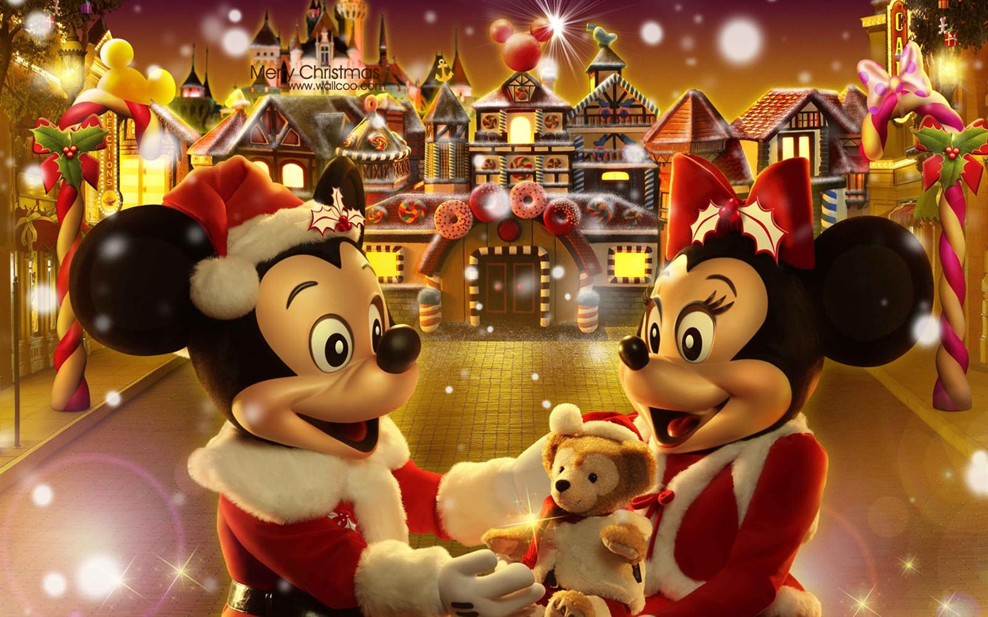 Mickey And Minnie The Gingerbread Man Christmas Wallpaper Fairy