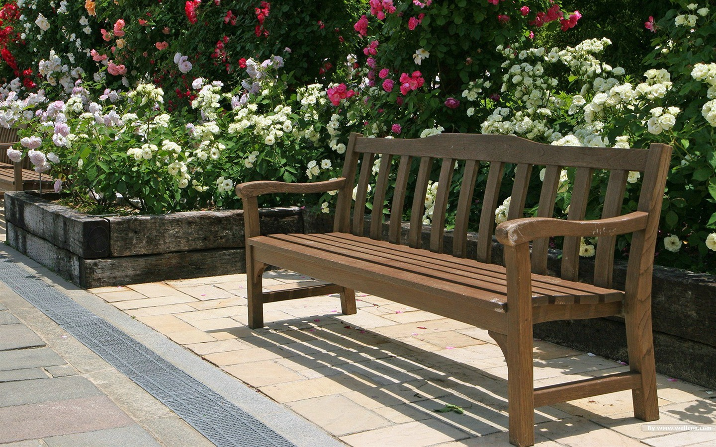 Park Benches Japanese Garden Art Landscape Wallpaper 1440x900 Download