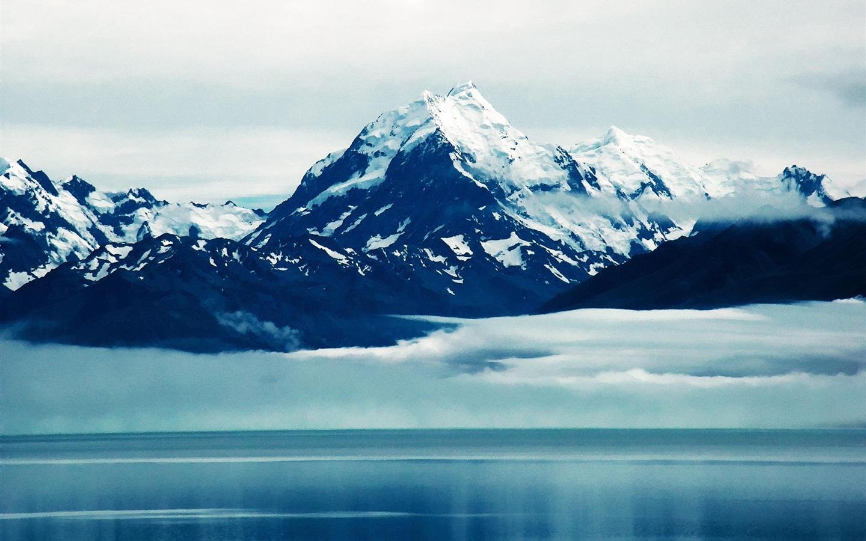 Pelaku Penembakan New Zealand Wallpaper: アオラキマウントクックニュージーランド-風景写真の壁紙-1440x900ダウンロード