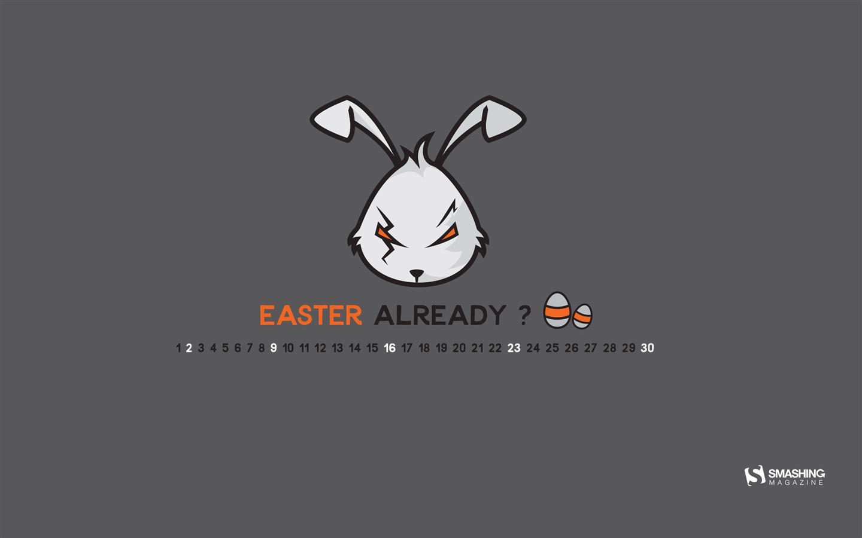 坏兔子 2017年四月日历壁纸