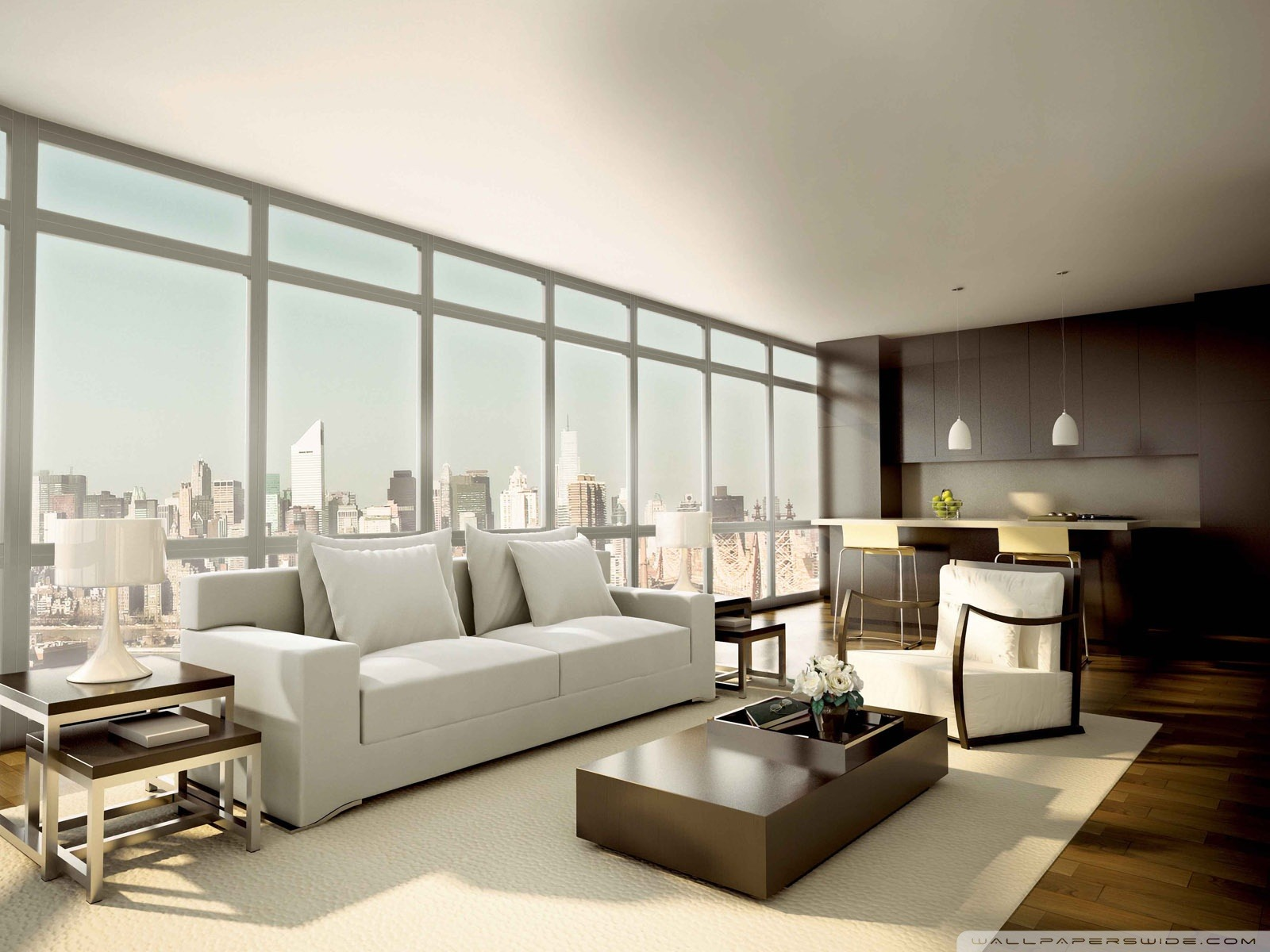 interior design-Architecture Decoration landscape wallpaper ...