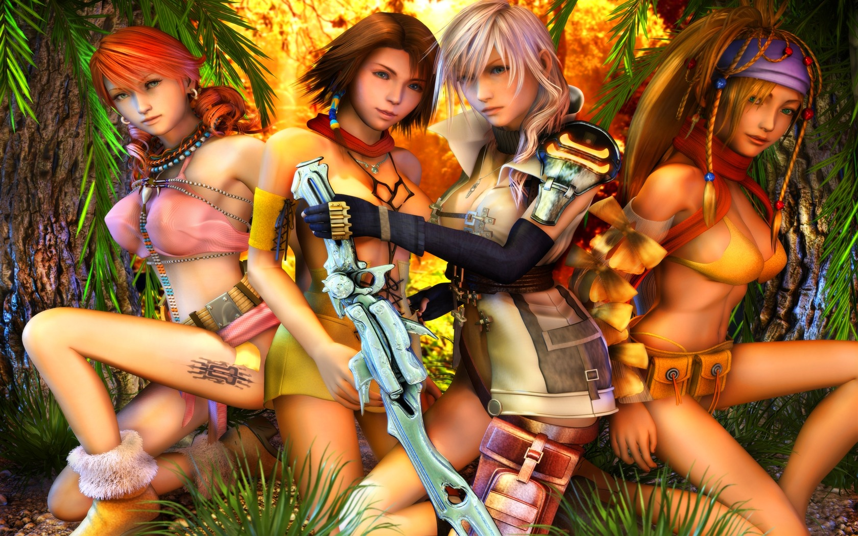 Girls sexy classic game final fantasy wallpaper preview - Fantasy game wallpaper ...