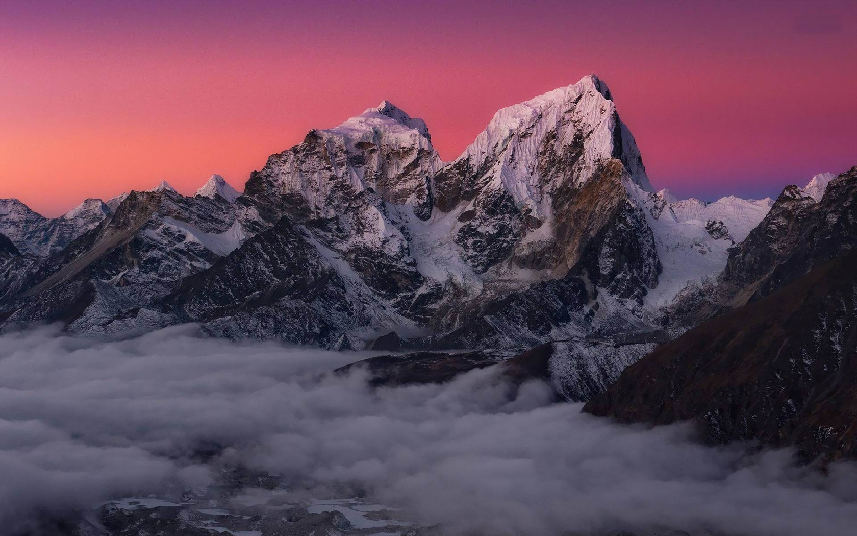 Snowy Mountains Natural Landscape Desktop Wallpapers
