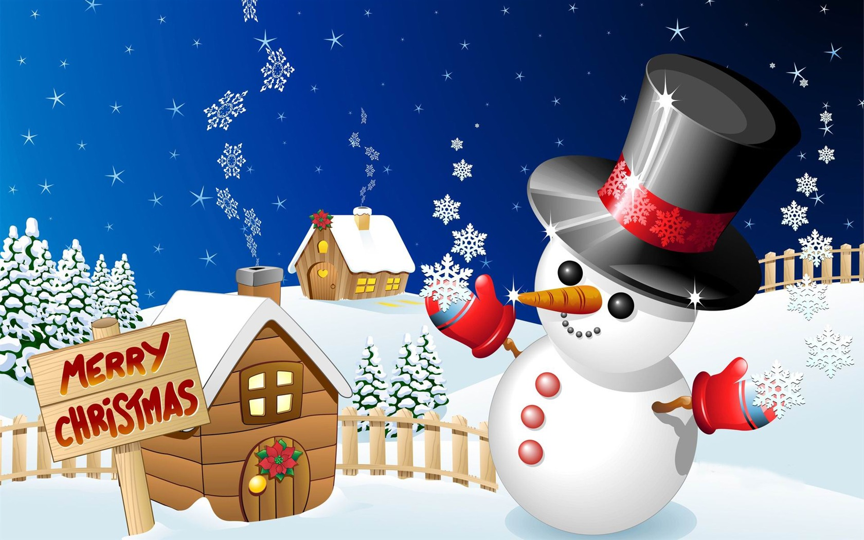 Cute Snowman Christmas Wallpaper Wallpapers Gallery