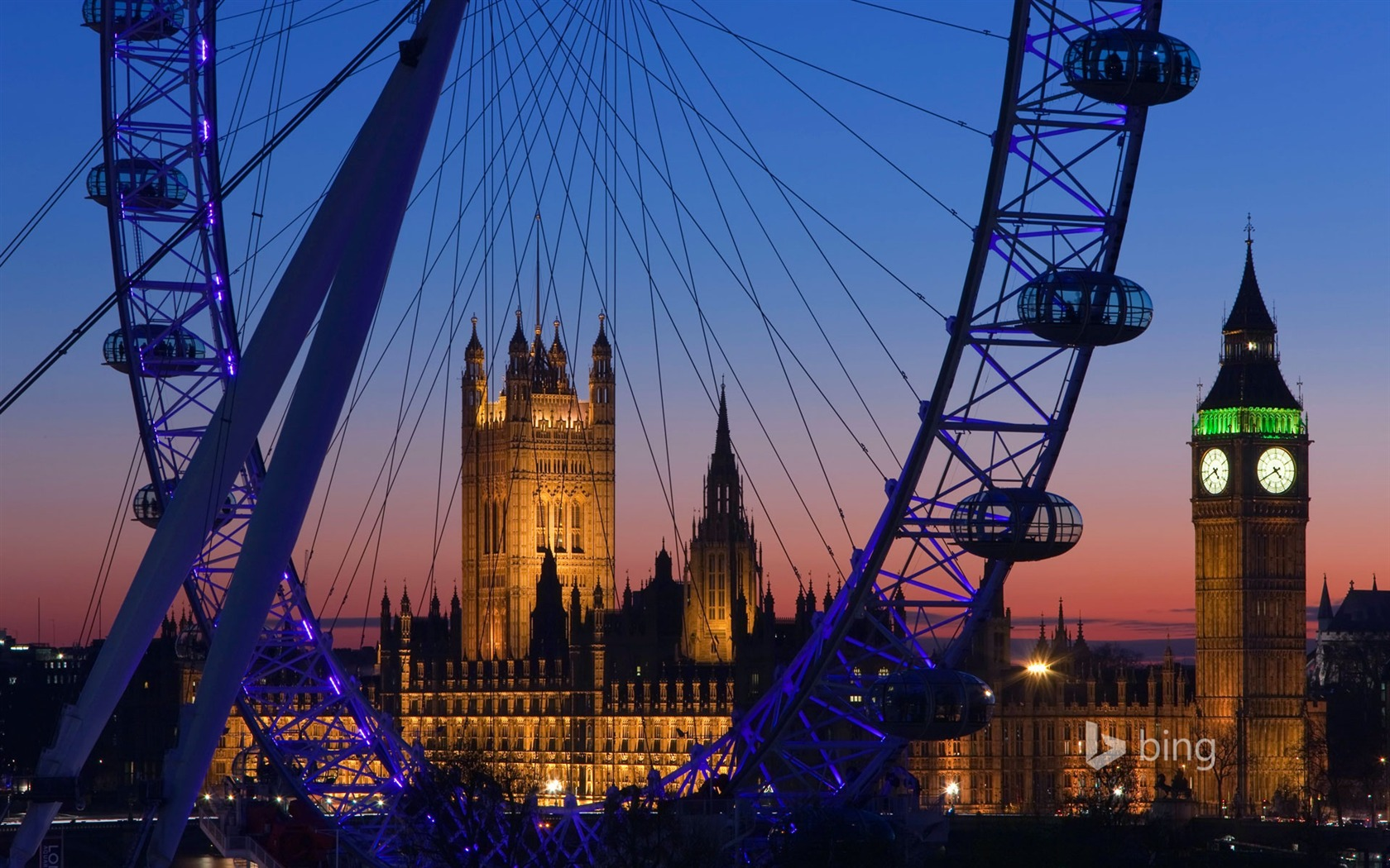 London Eye Big Ben Bing Theme Wallpaper Preview