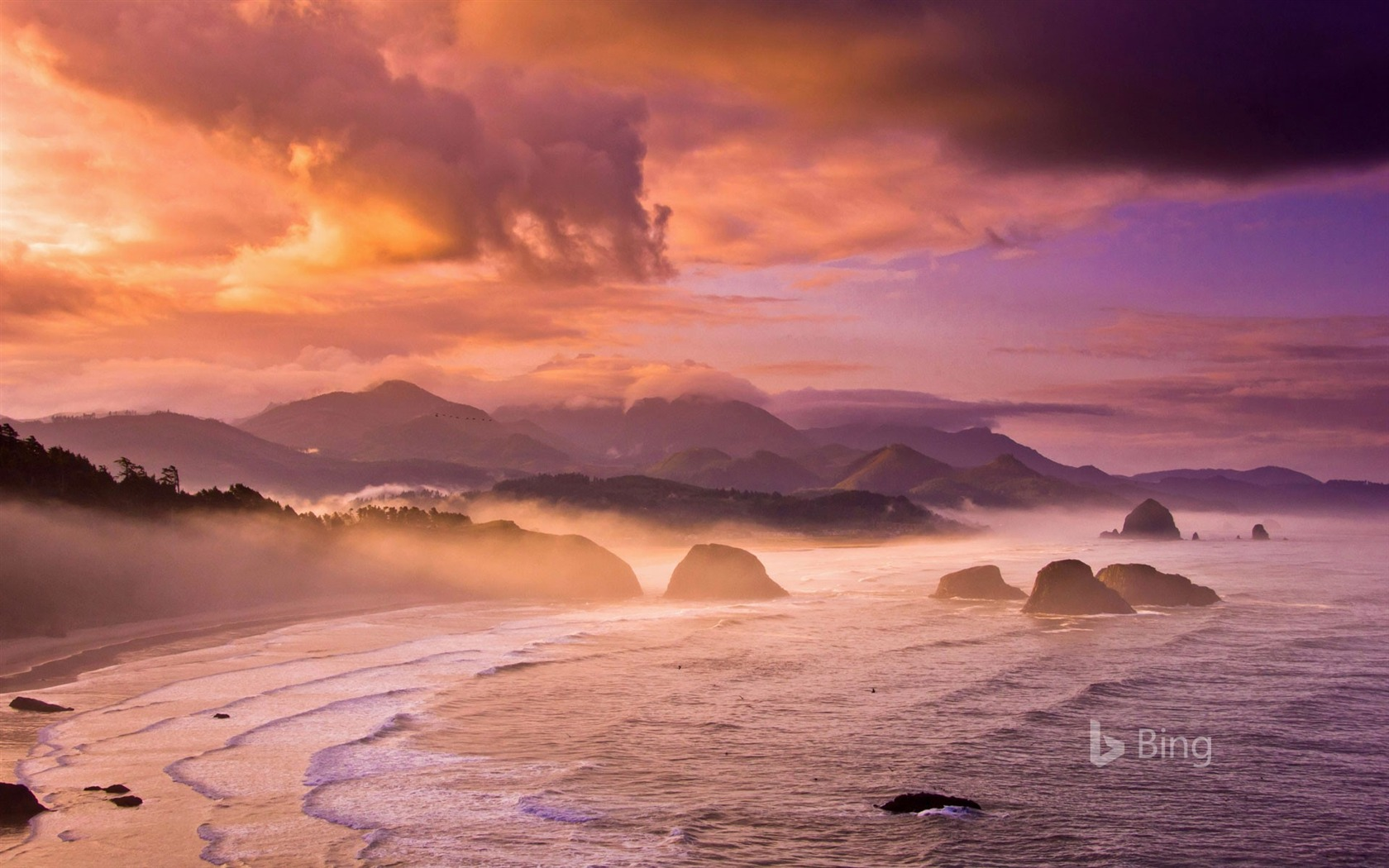 Sunset Beach Oregon State Bing Wallpaper 2018 Preview