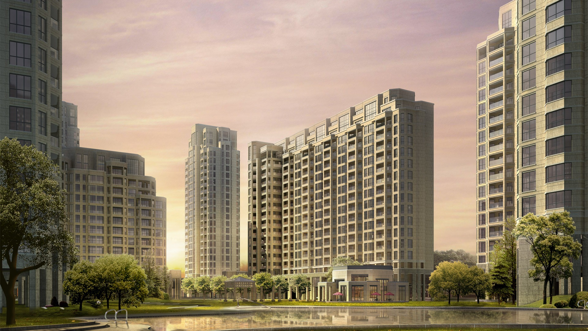 3d Architectural Rendering Of Residential Buildings 19