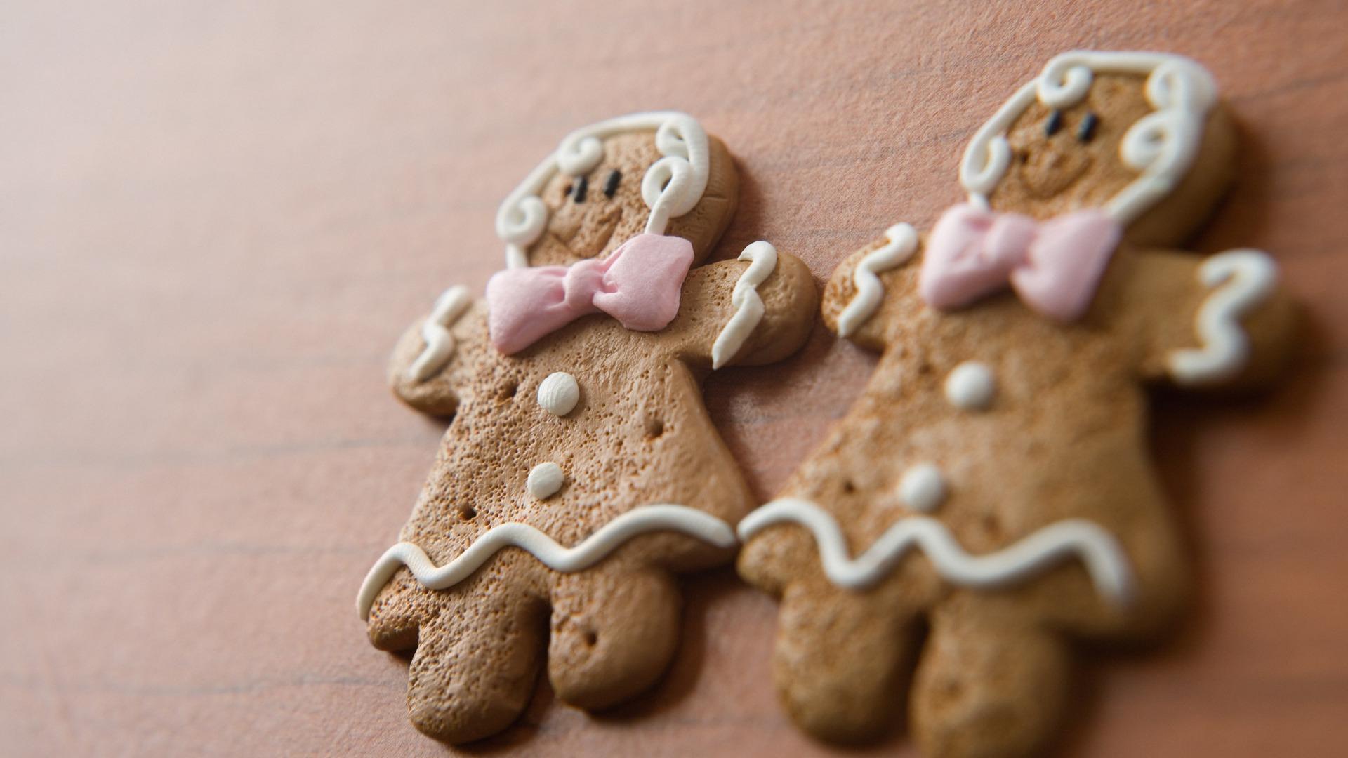 Festivals Christmas Gingerbread Man Snack Wallpaper