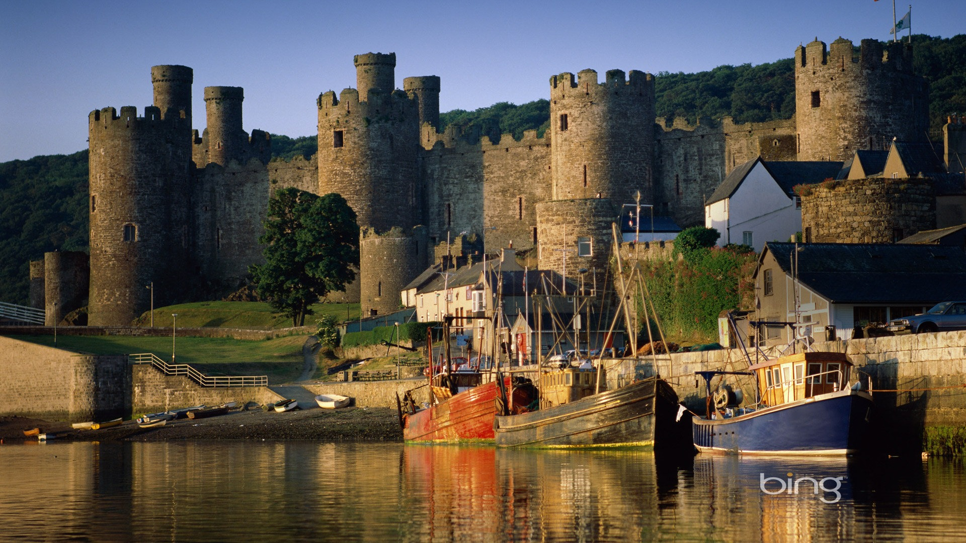 Conwy Castle River Conwy Wales UK-1920x1080 Download ...