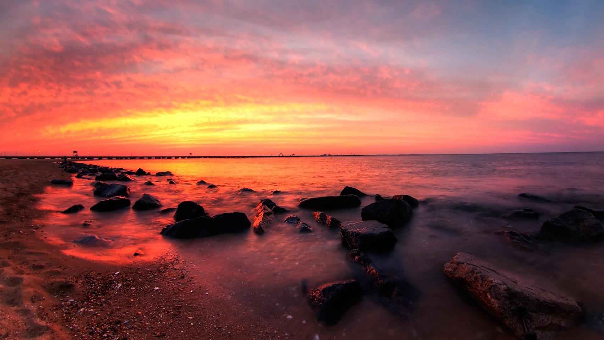 HDR sunrise and sunset landscape wallpaper 19-1920x1080 ...