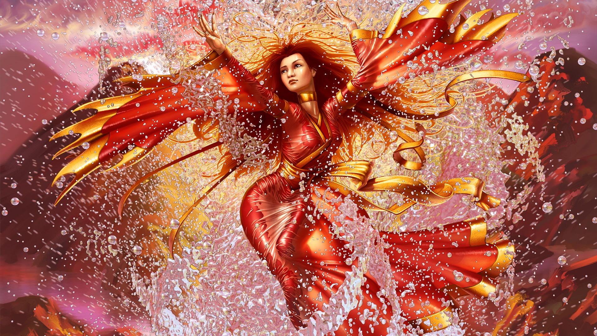 Fantasy Art Fire Goddess