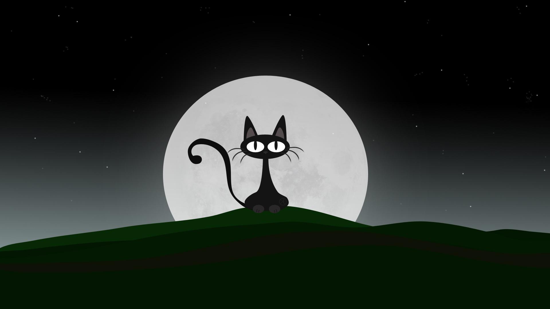 Personagem De Desenho Animado De Gato Hd Desktop Wallpaper