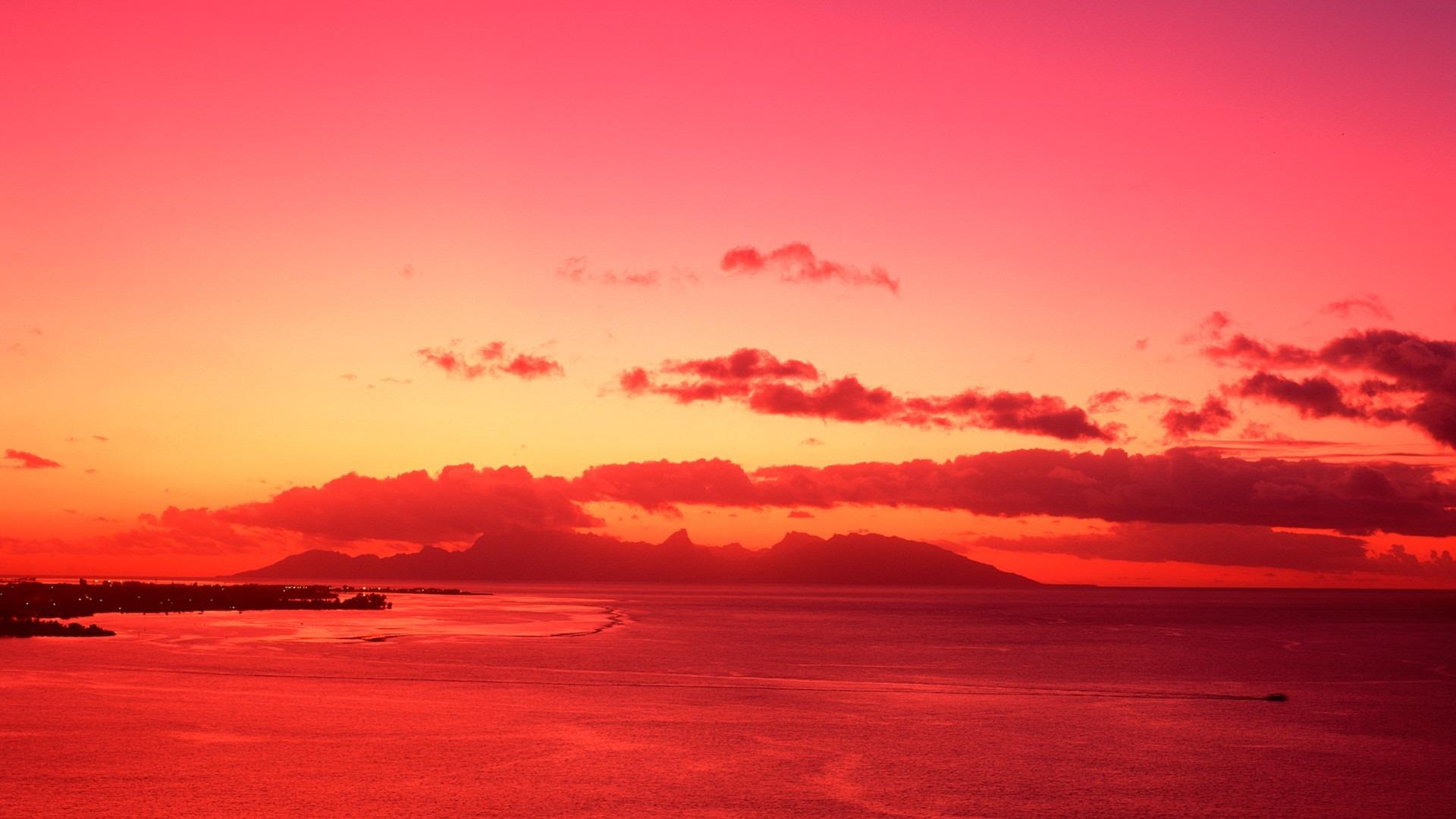 Tahiti Blood Red Sunset Wallpaper Preview 10wallpaper Com
