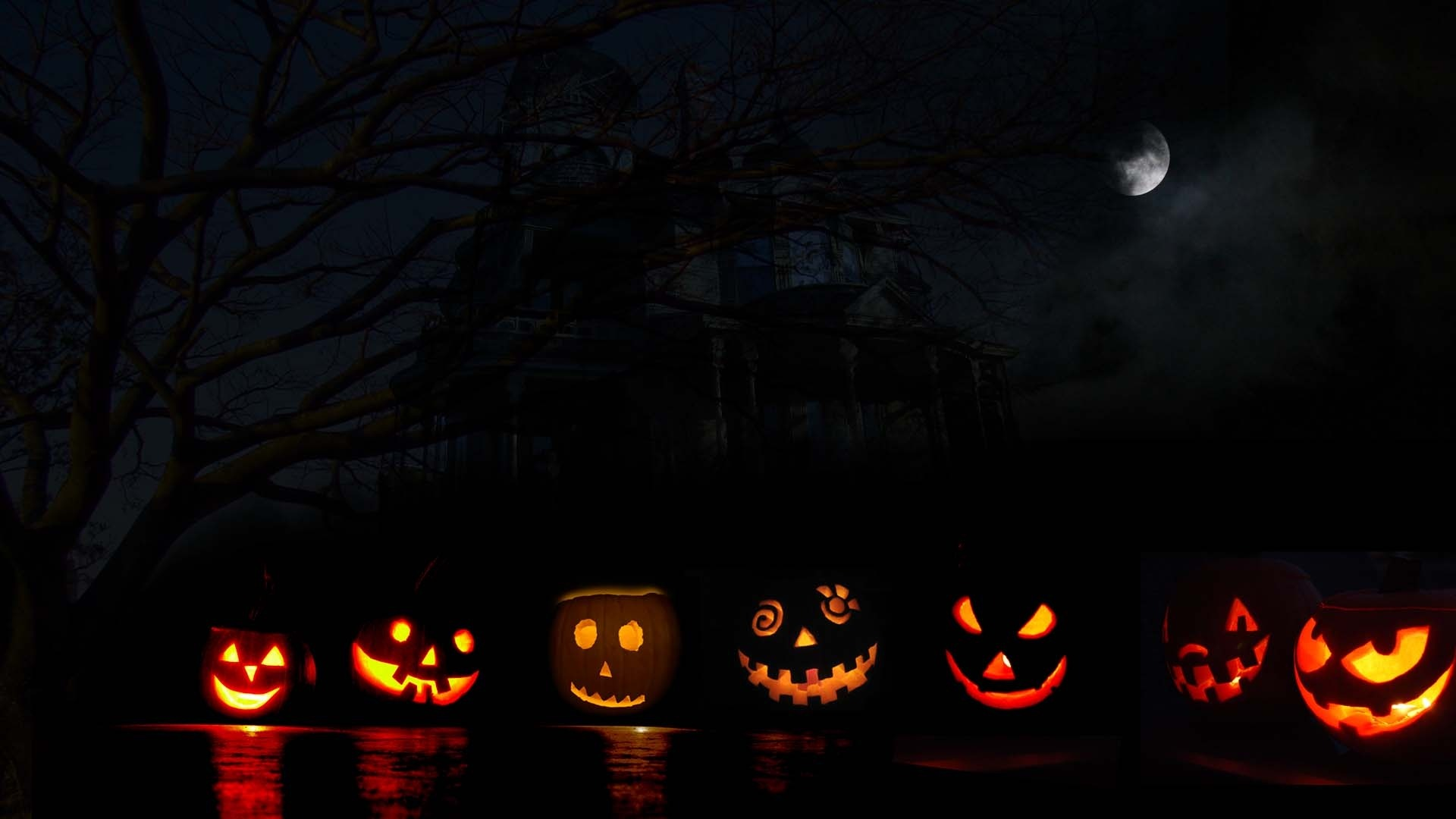 Halloween jack light happy halloween illustration design wallpaper 01