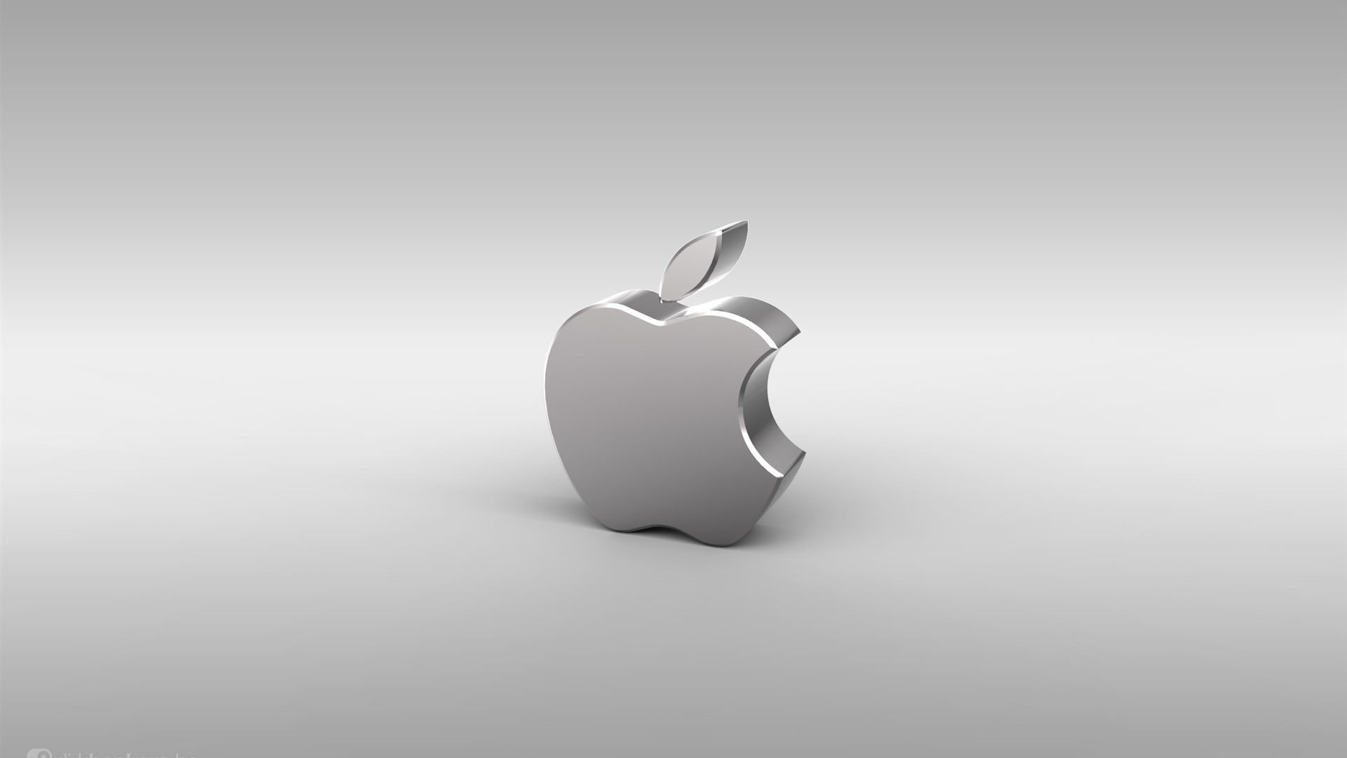 Logotipo De Apple De Plata Piense En El Fondo De Escritorio