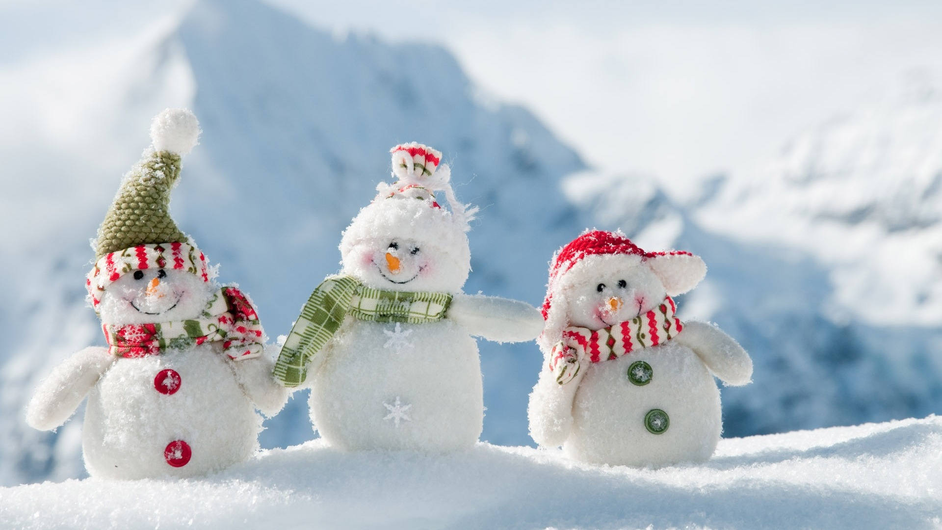 Snowman Desktop Wallpaper Winter Scenery Preview 10wallpaper Com