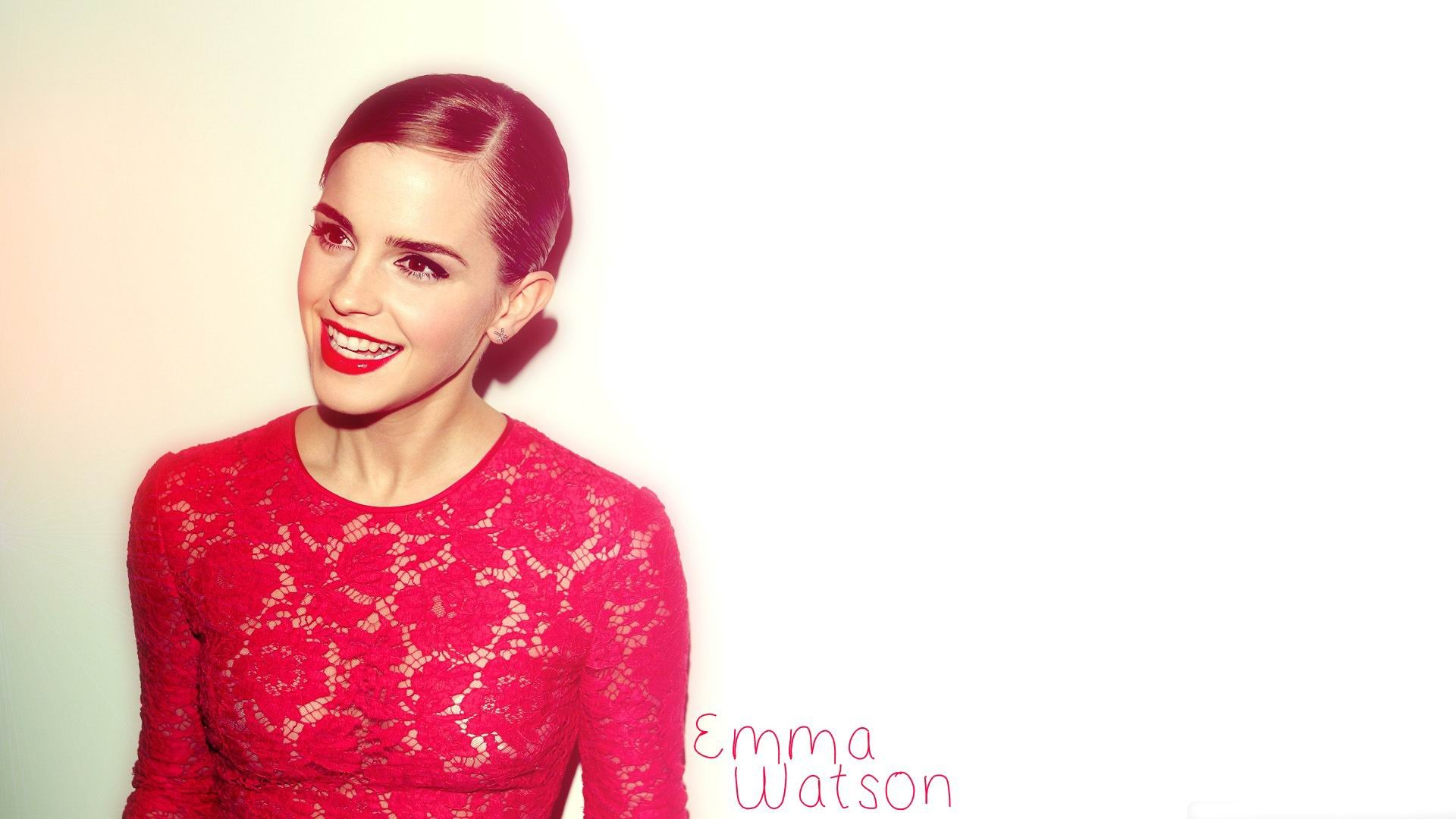 Emma watson red dress movie star hd wallpaper 1920x1080 - Emma watson wallpaper free download ...