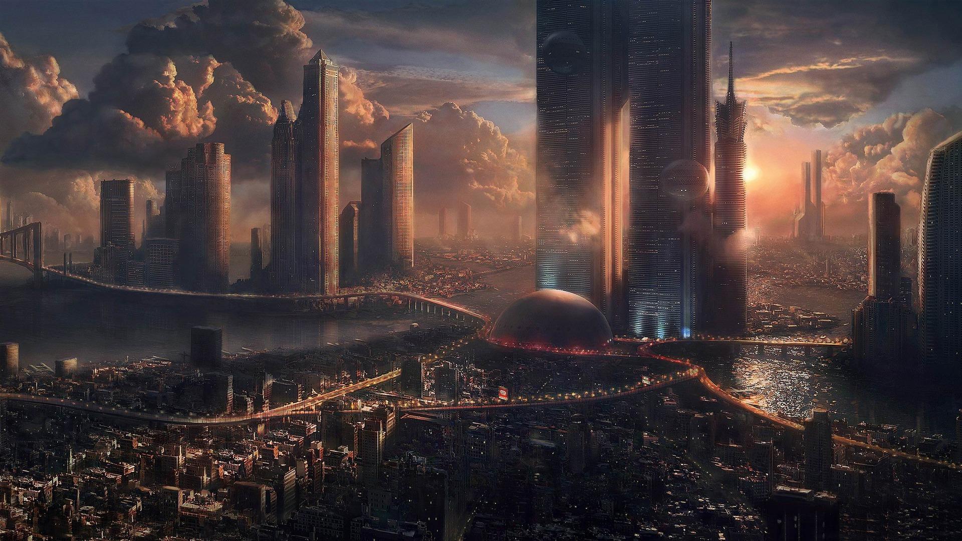 Vos plus belles photos - Page 6 Futuristic_cityscape-World_of_fantasy_art_design_HD_wallpaper_1920x1080