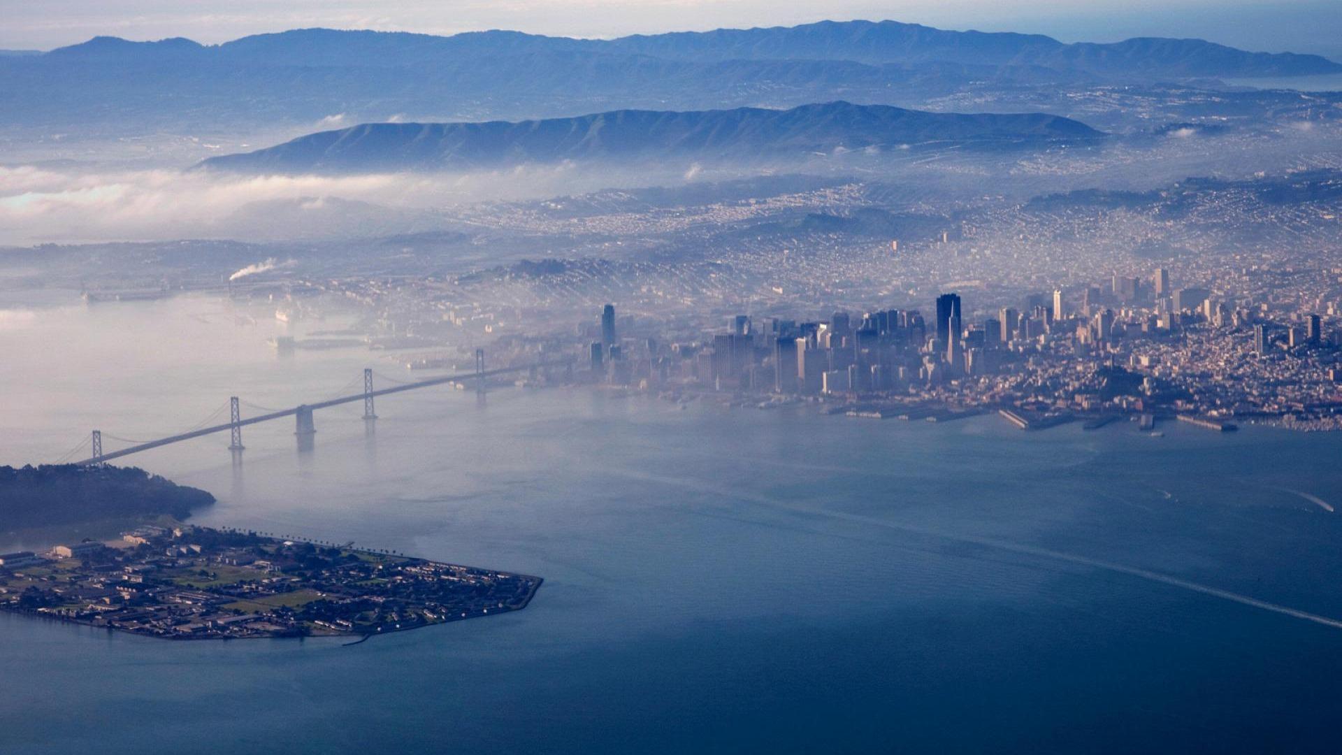 San Francisco Oakland Bay Bridge World Beautiful Scenery