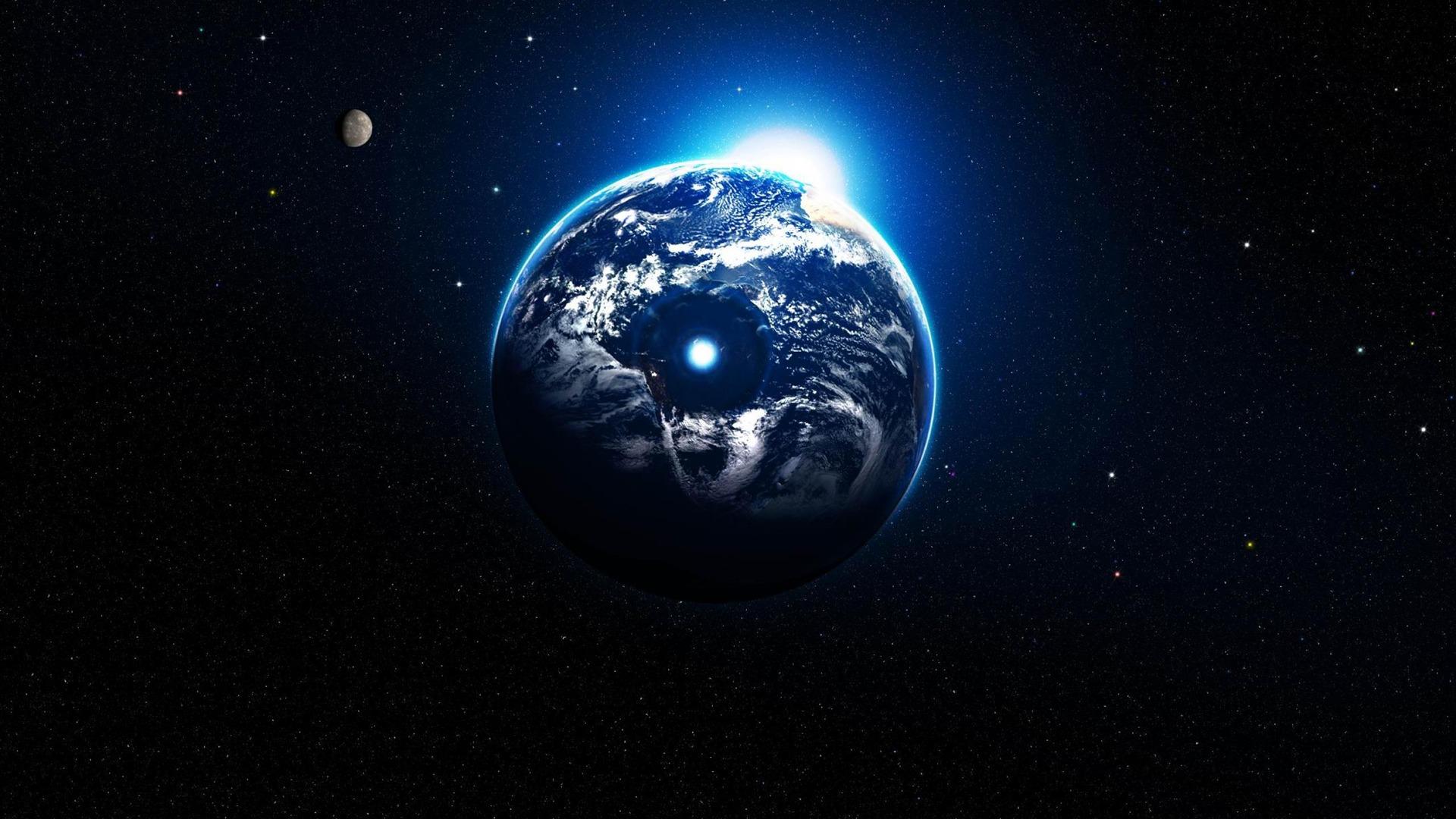 La lumi re l 39 espace plan te hd fonds d 39 cran paysage for Paysage espace