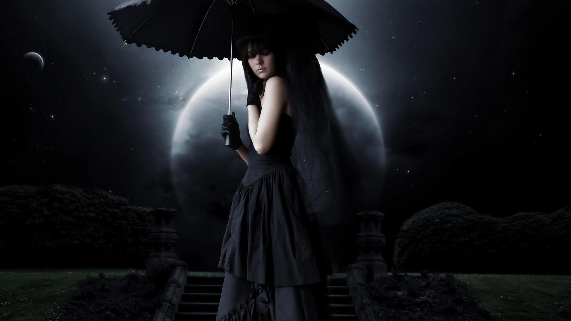 黒い謎の女 美しい写真の壁紙プレビュー 10wallpaper Com