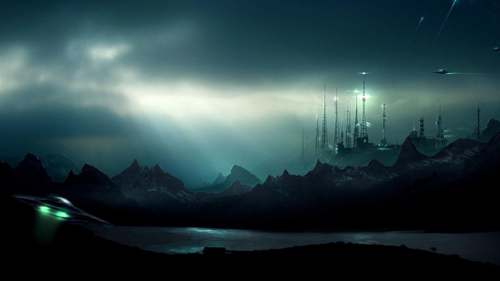futuriste scifi vallée-fond d'écran Haute Qualité Aperçu