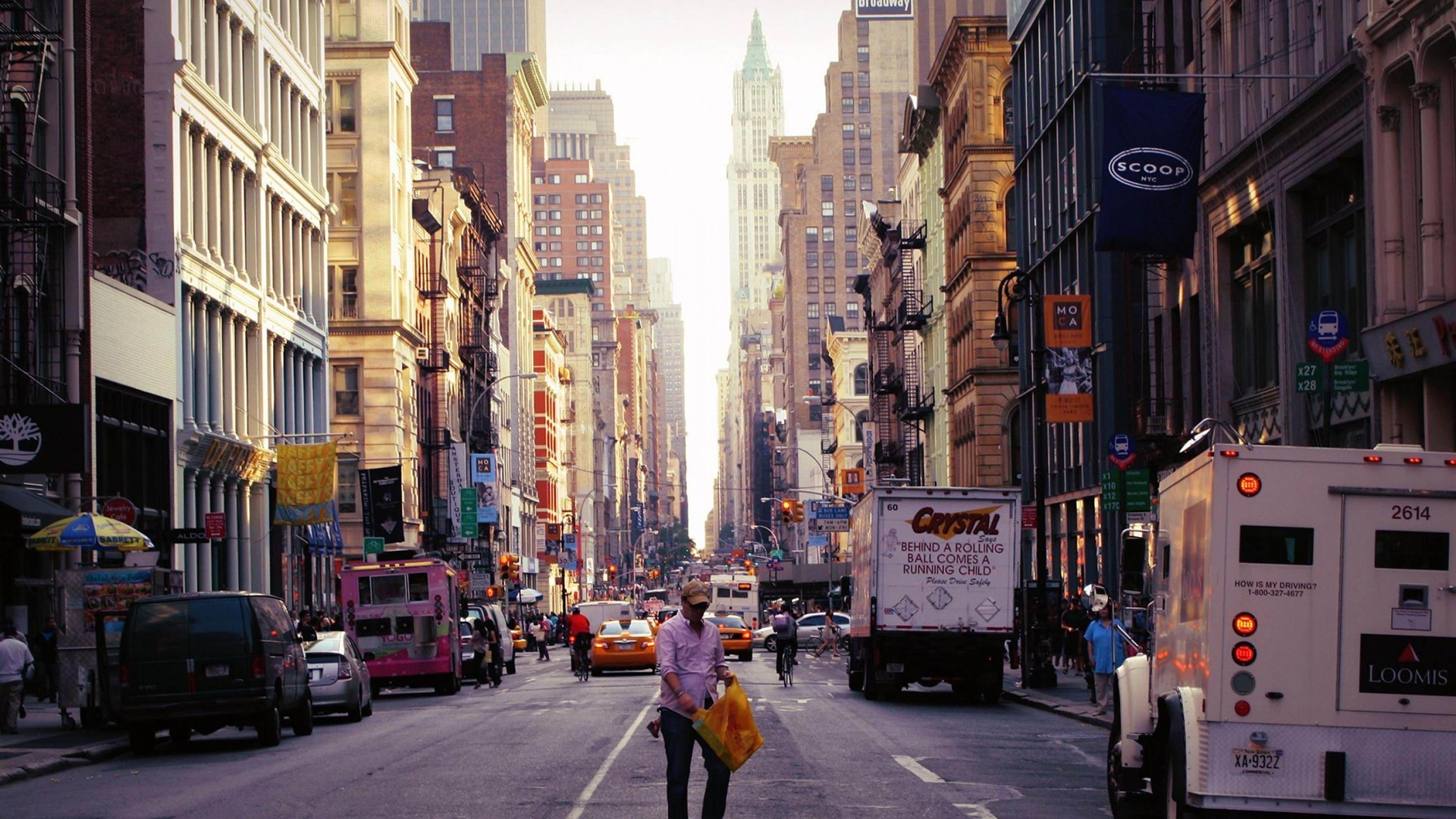 City New York Street Photography Wallpape