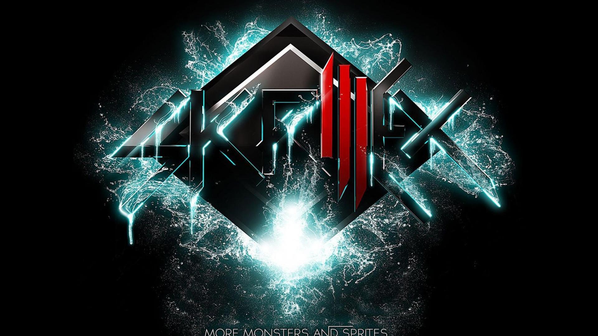 Skrillex Logo Blue And Green