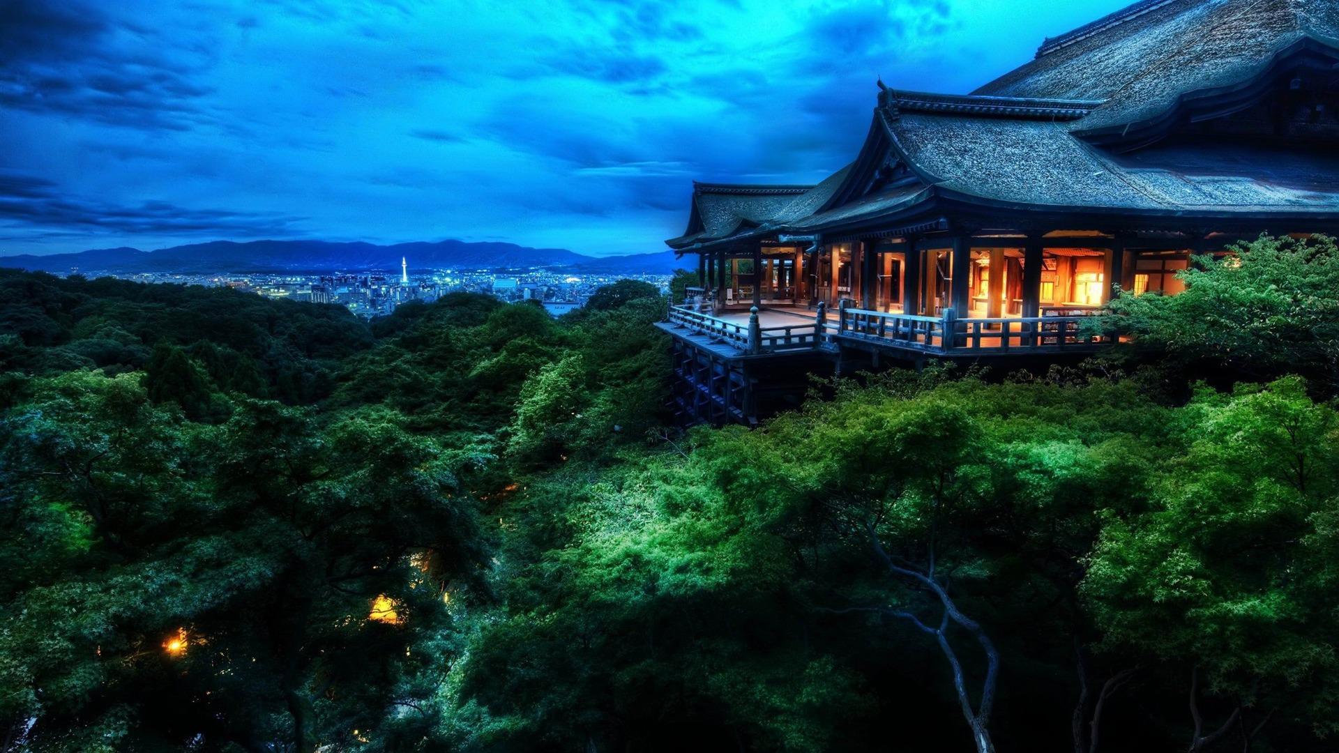 En La Noche Fondo De Pantalla De Japón Paisaje Avance
