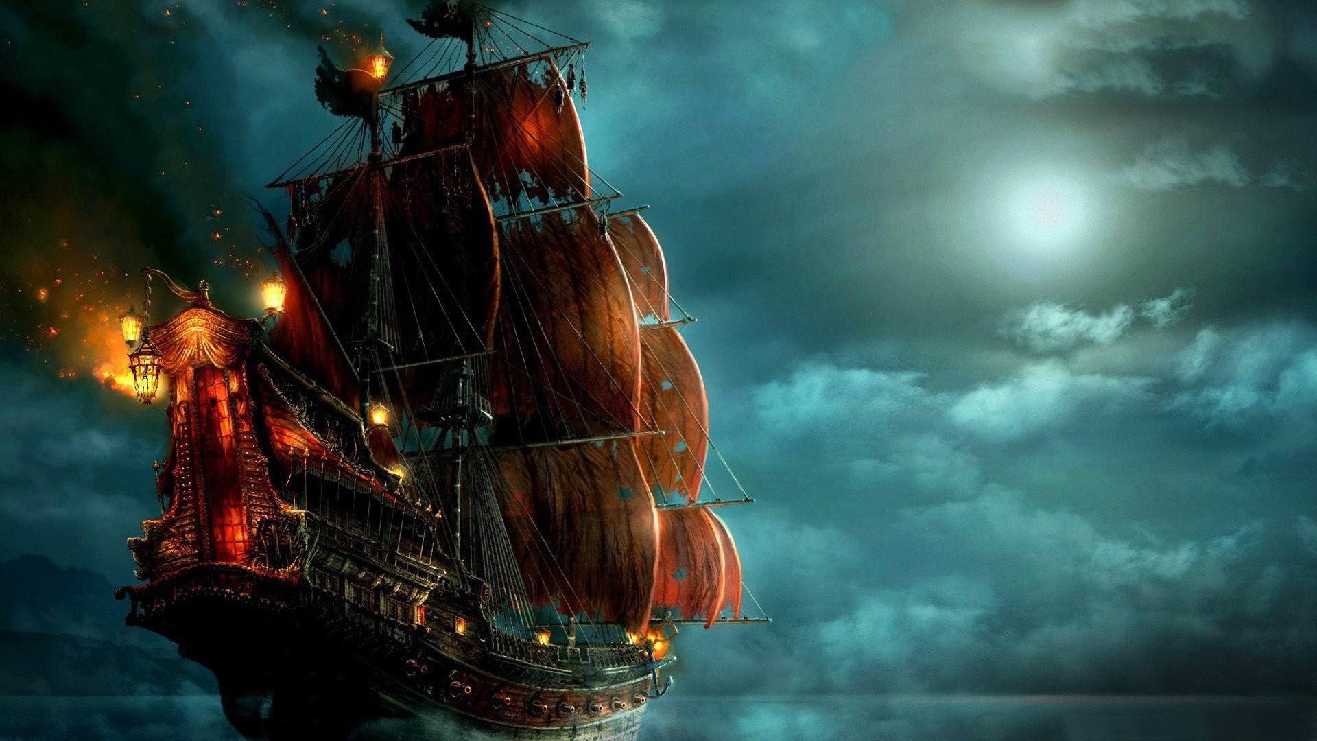 sailing ship painting-Fantasy design wallpaper-1920x1080 ...