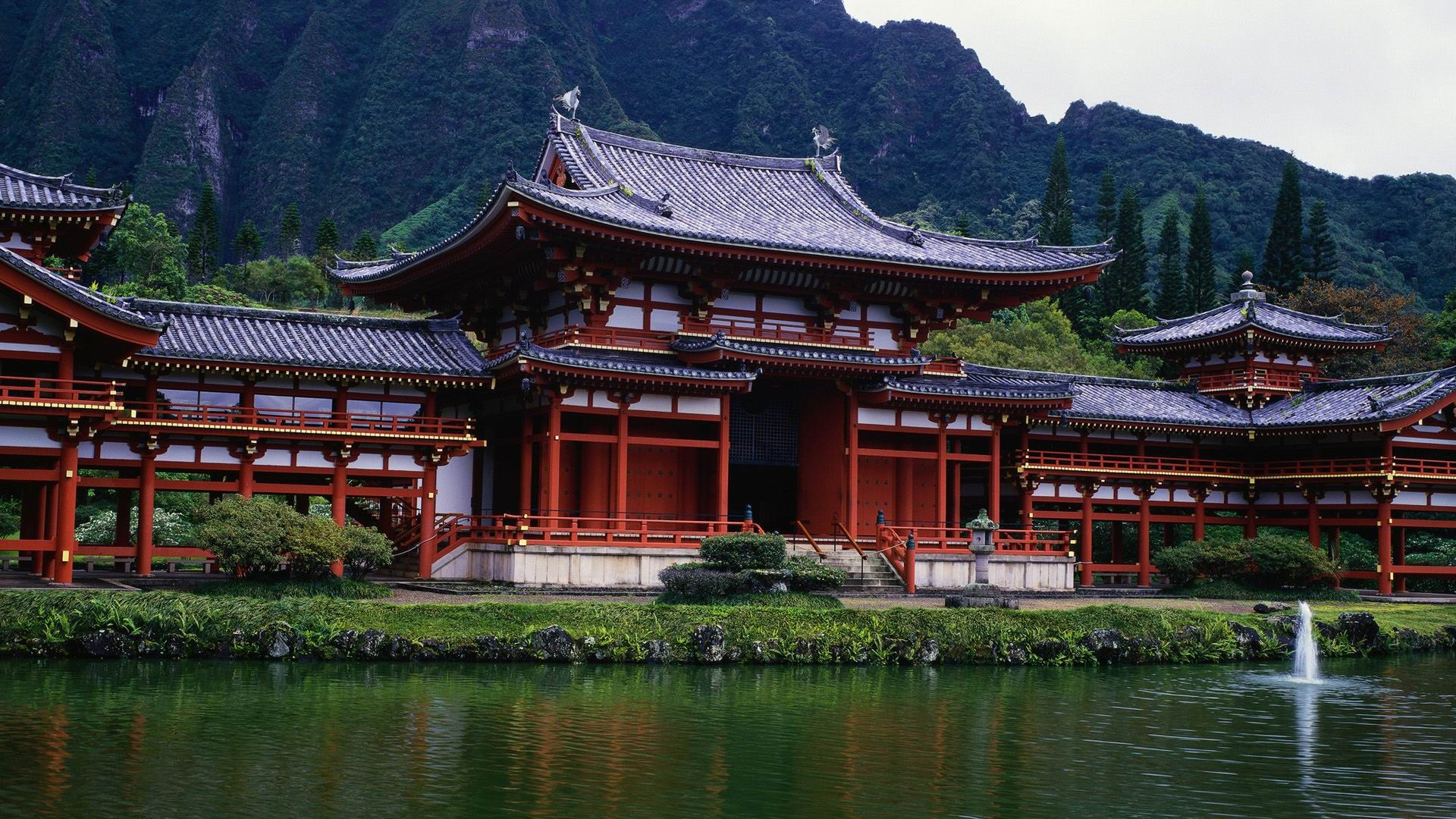 temple-Japan Landscape Wallpaper