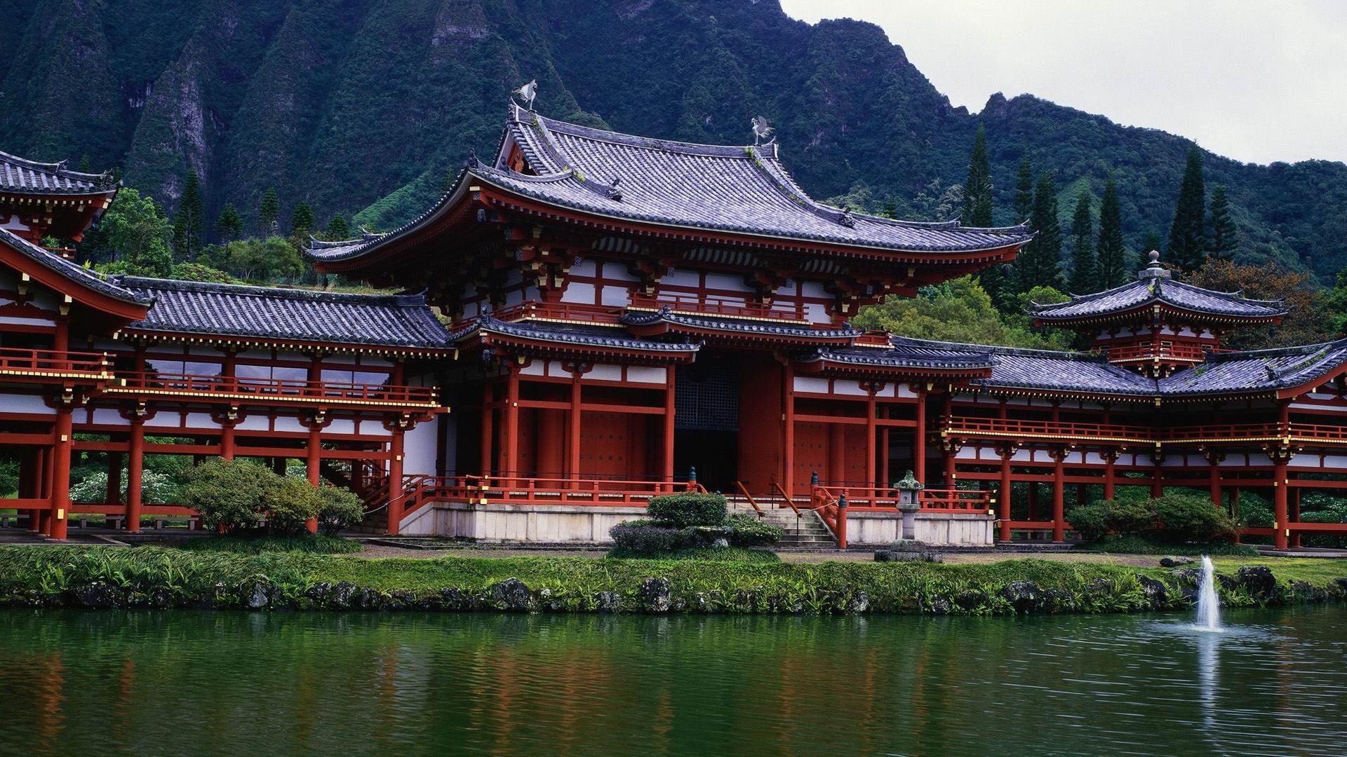 temple japan landscape wallpaper - photo #1