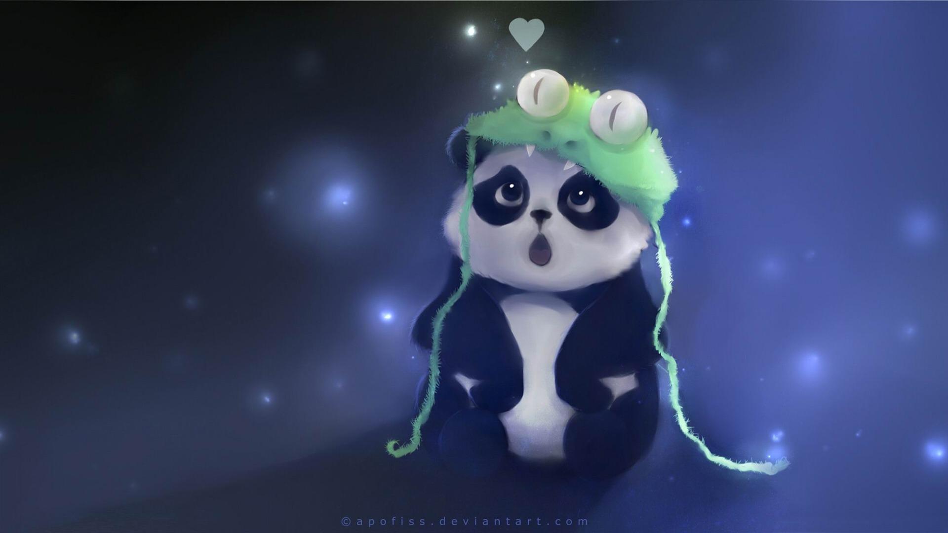 Cute Panda Peinture Fantasy Fond D Ecran Apercu 10wallpaper Com
