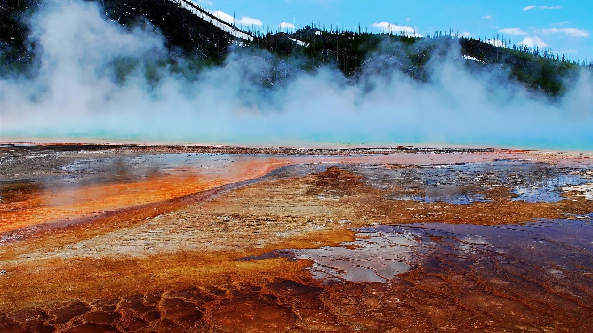 Grand Prismatic Spring Midway Geyser Basin Yellowstone