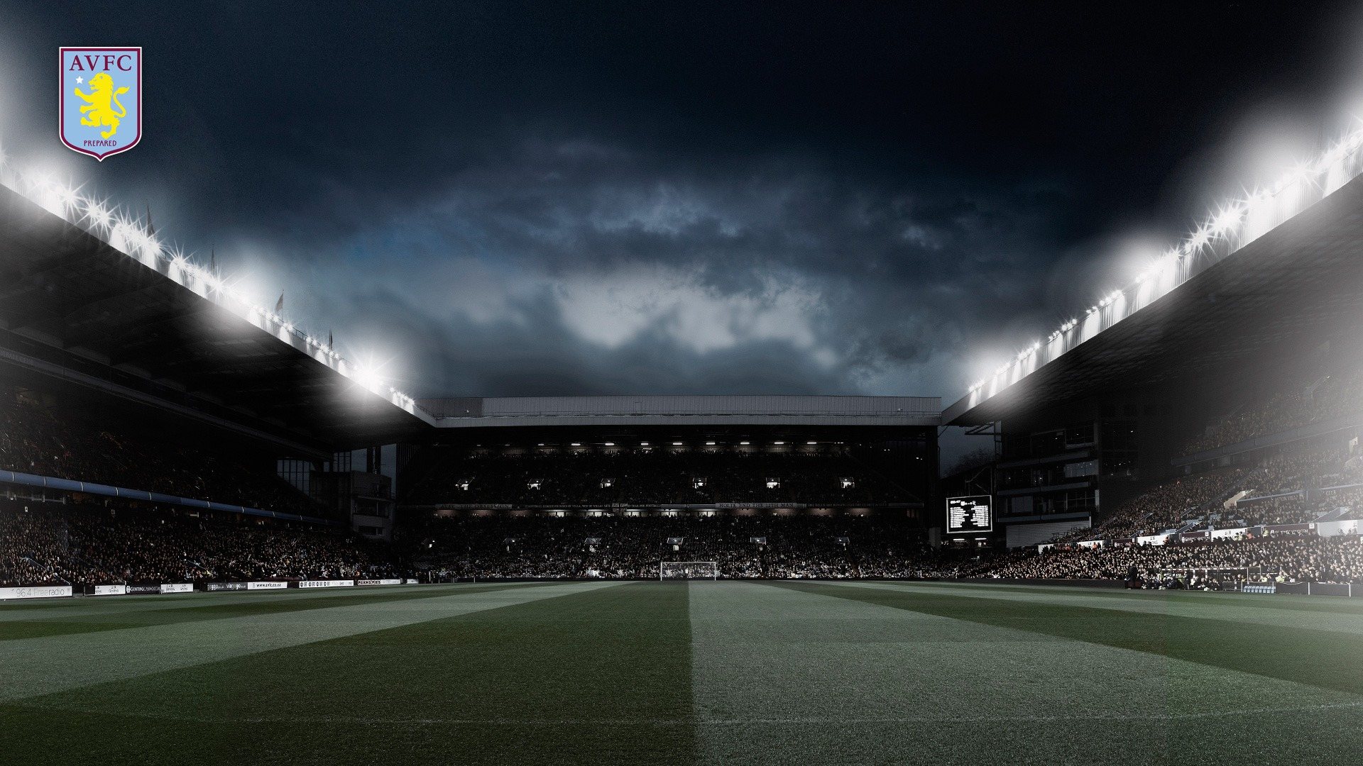 Iconic Villa Park Aston Villa 2012 Wallpaper 1920x1080