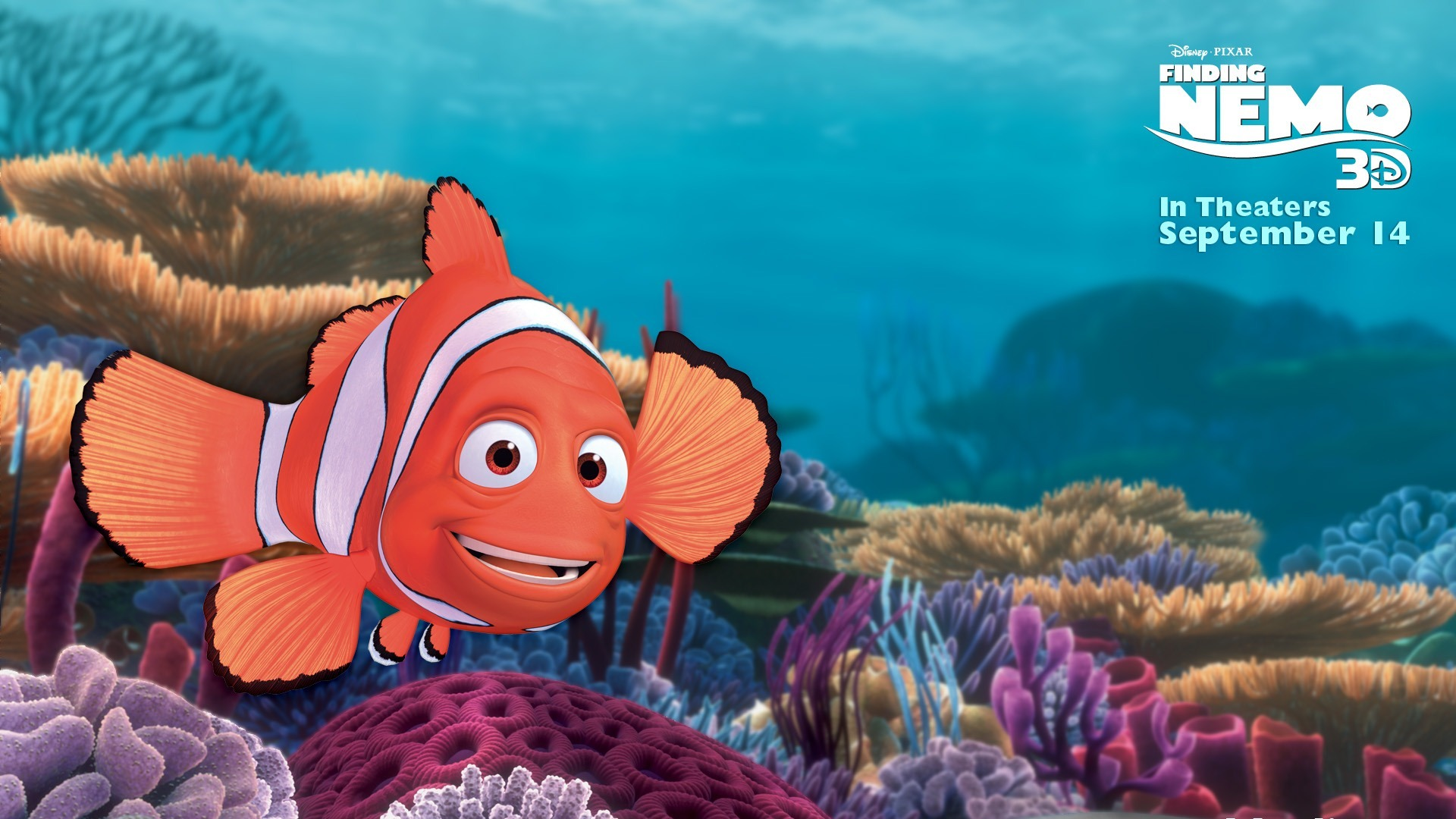 Marlin Finding Nemo 3d Movie Hd Desktop Wallpaper 1920x1080 Wallpaper
