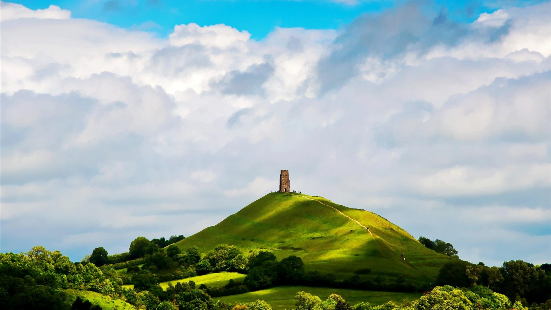 st michaels tower glastonbury englandnatural scenery
