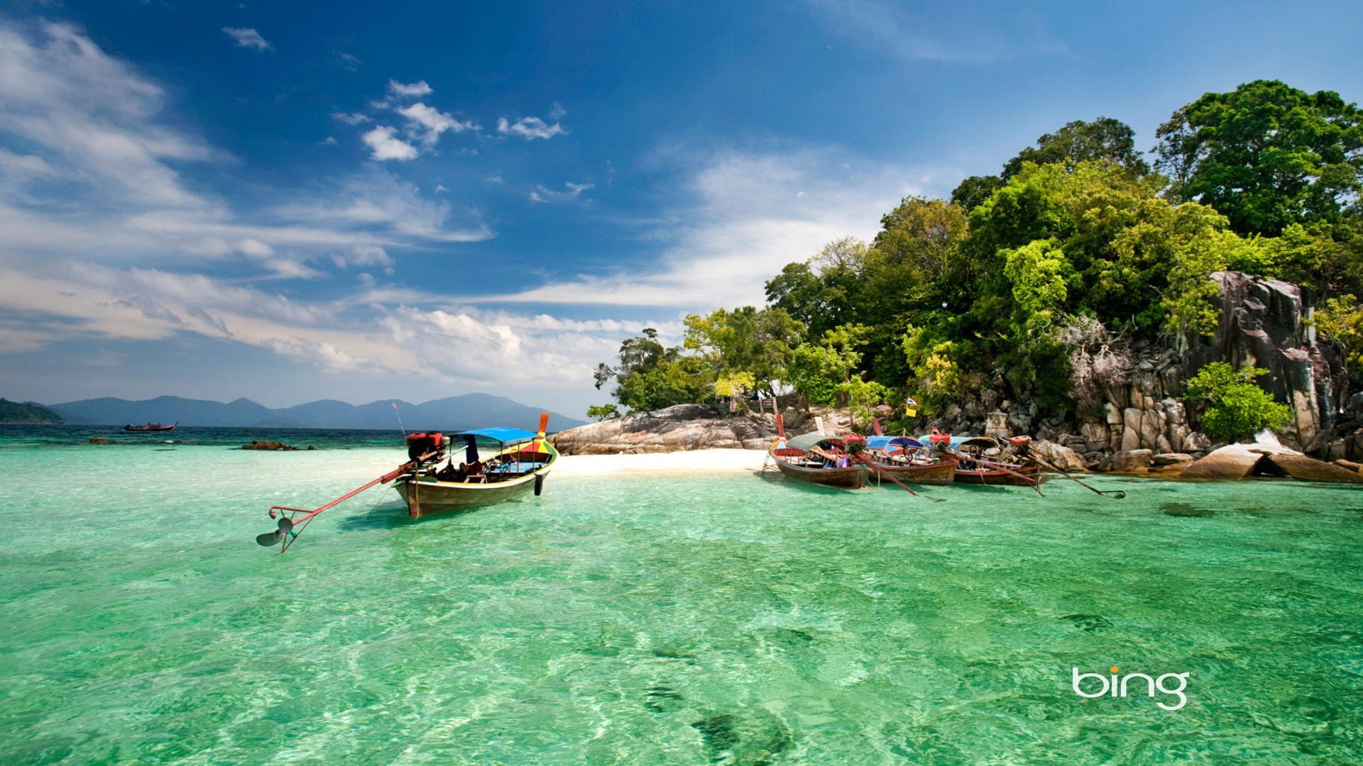 Thailand daru island marine national park bing wallpaper for Thai wallpaper gallery