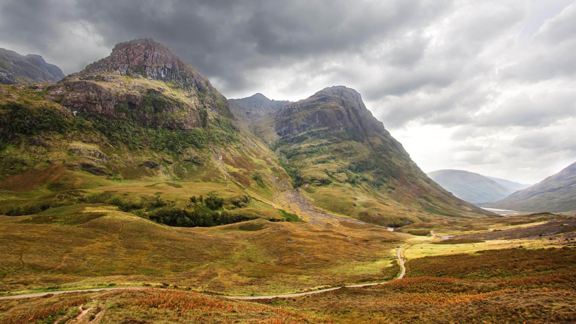 Glencoe valley united states 2012 landscape selected wallpaper 1920x1080 download - Highland park wallpaper ...