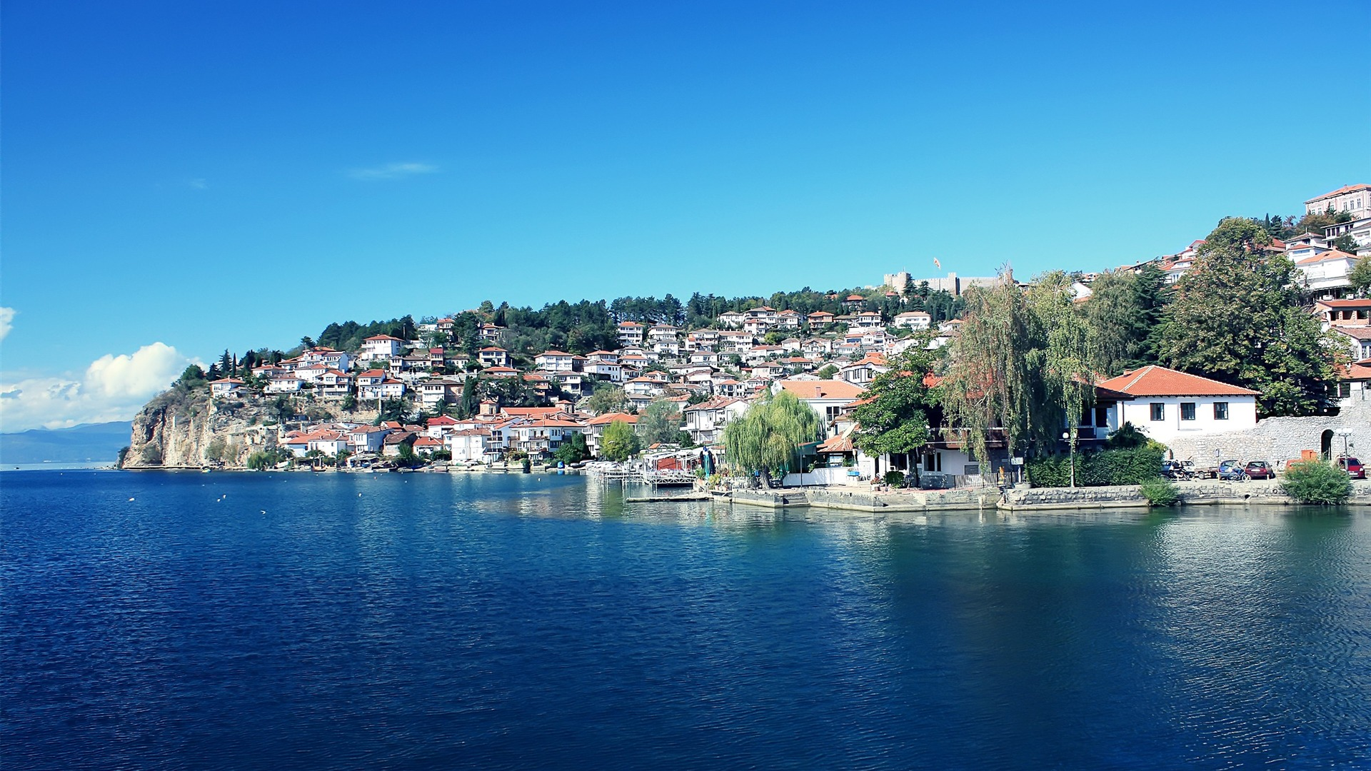 The Macedonian Ohrid The Old Town Small Fresh Landscape