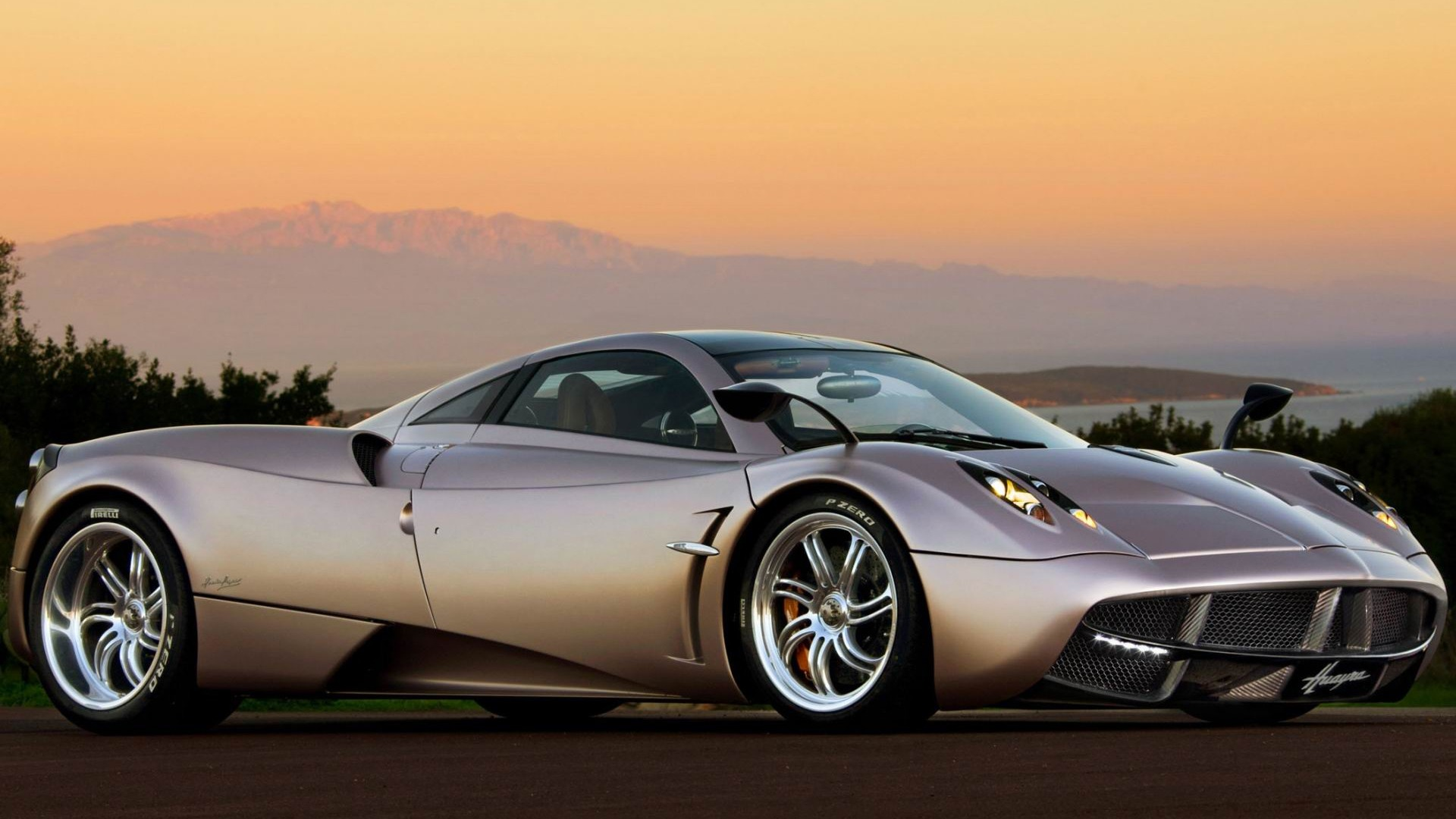 Pagani Huayra Sunset 2012 Luxury Car Hd Wallpaper Preview